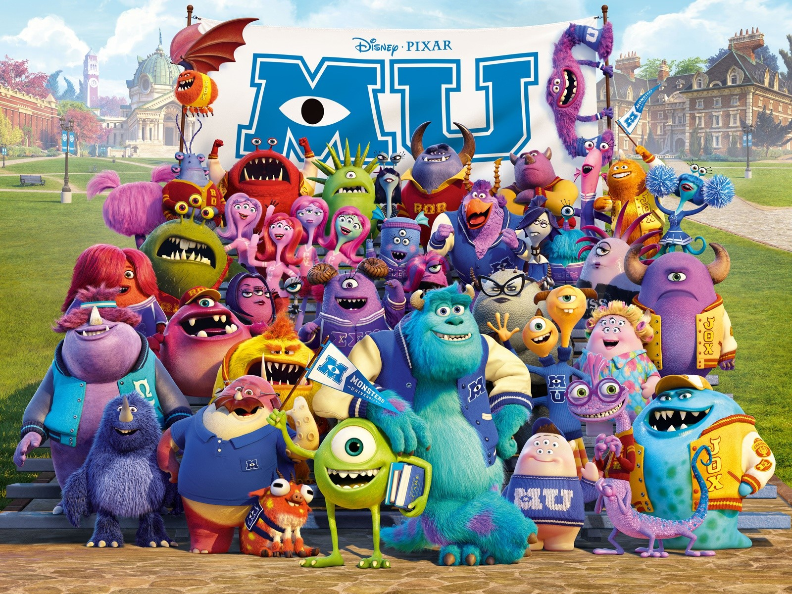 Wallpaper Monsters university 2013