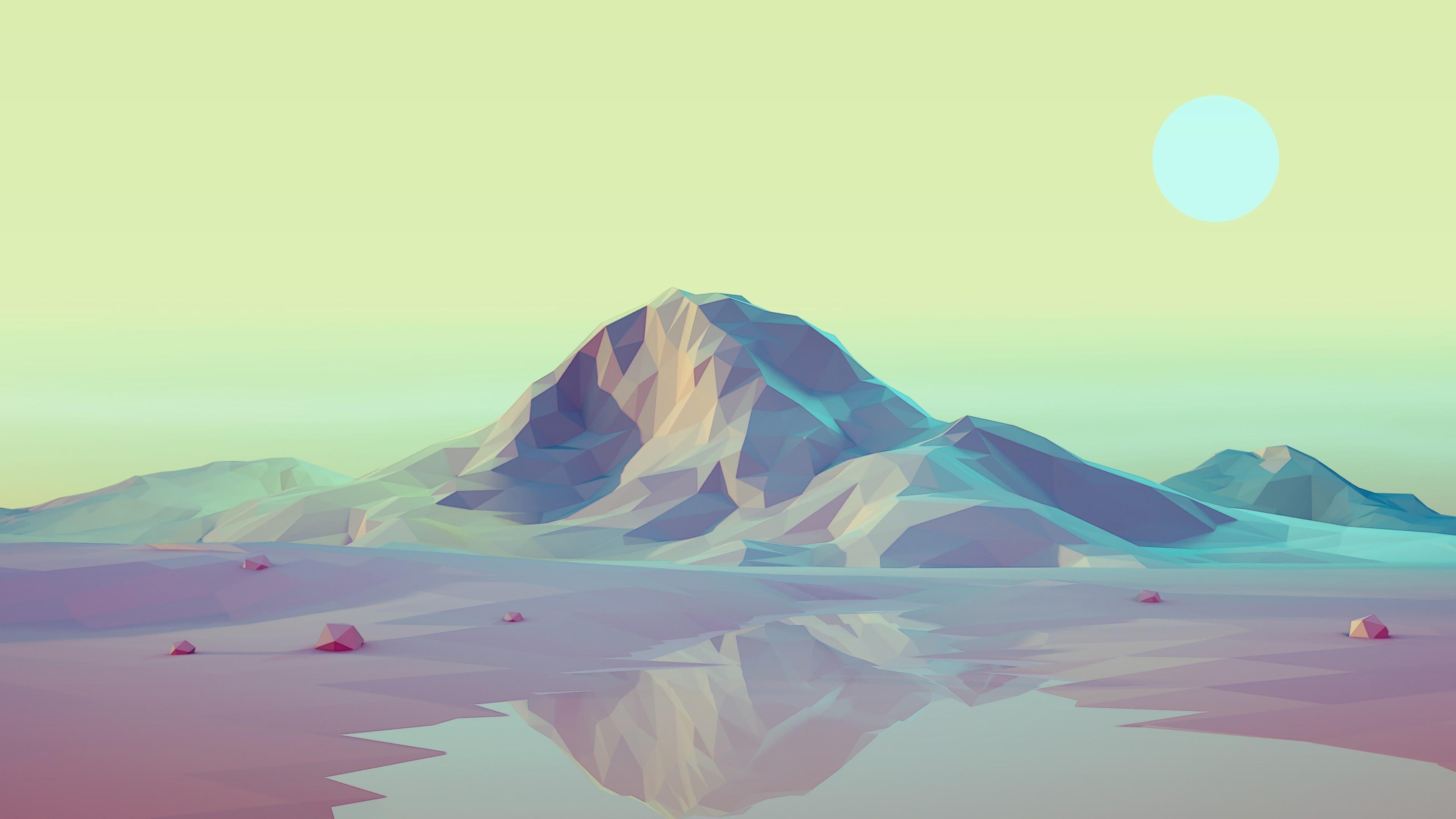 Fondos de pantalla Montañas 3D Low Poly