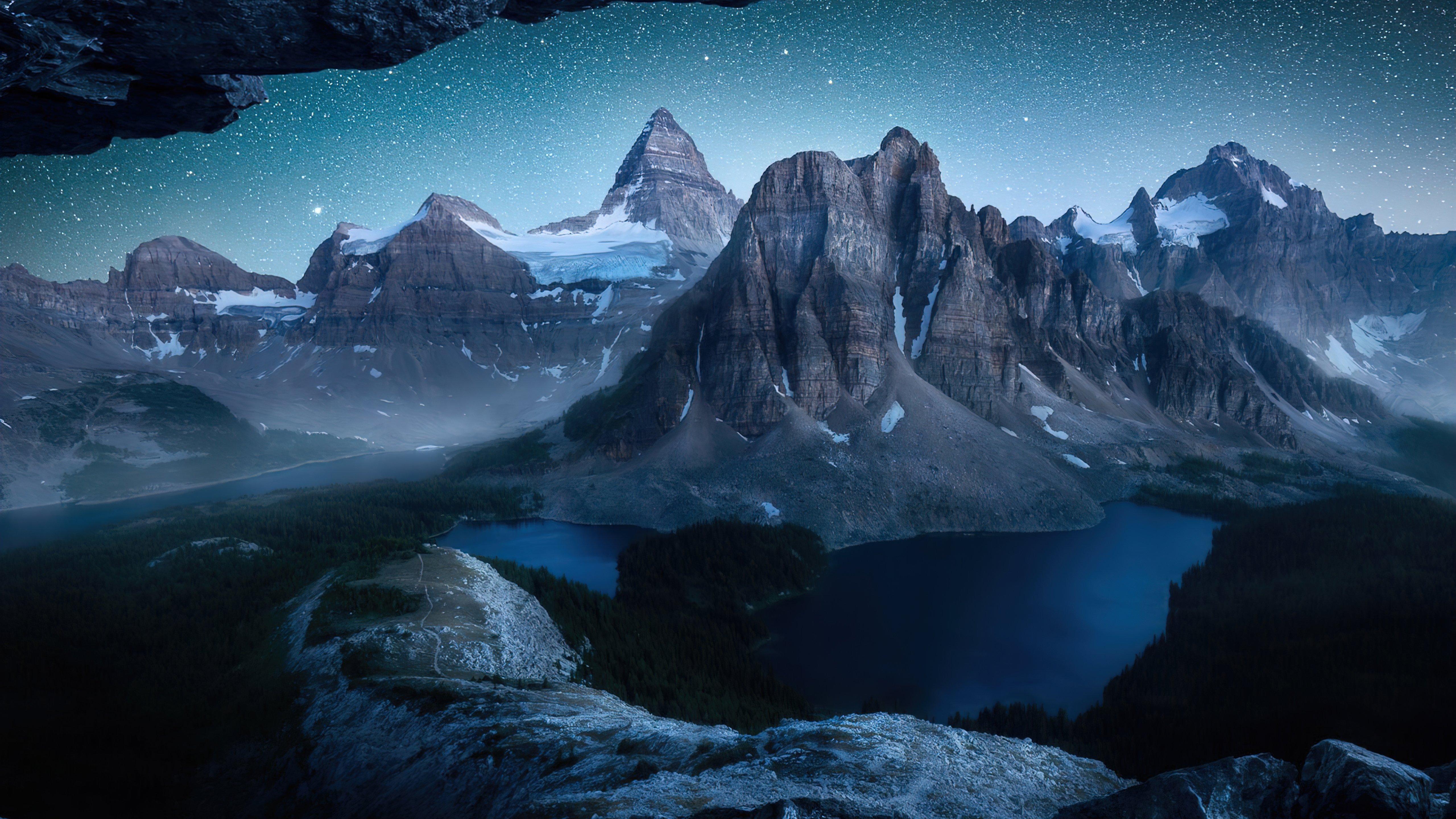 Fondos de pantalla Montañas bajo las estrellas