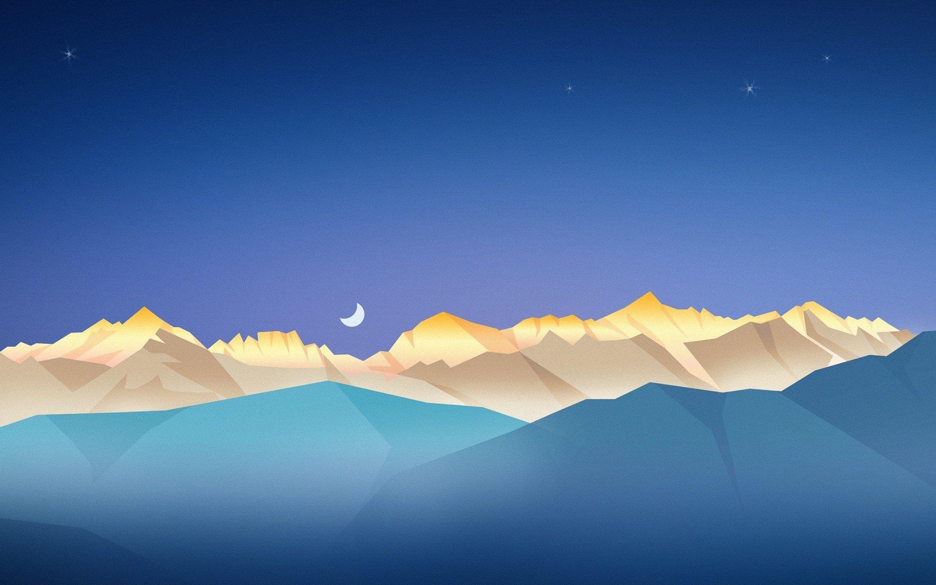 Fondos de pantalla Montañas bajo un cielo estrellado