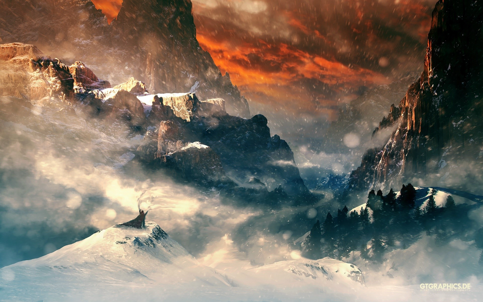 Wallpaper Hobbit Mountains