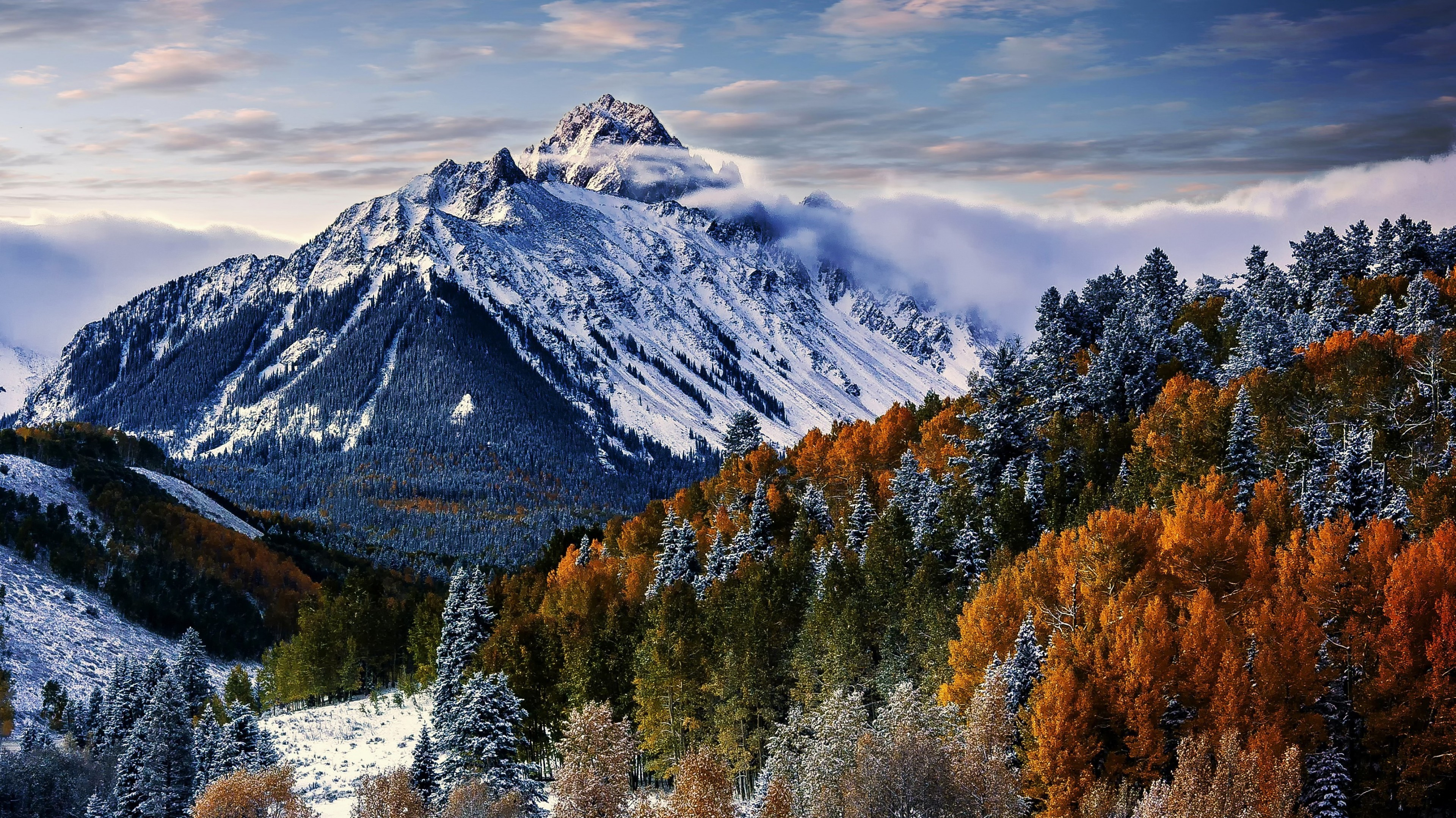 Wallpaper Mountains in Sneffels forest