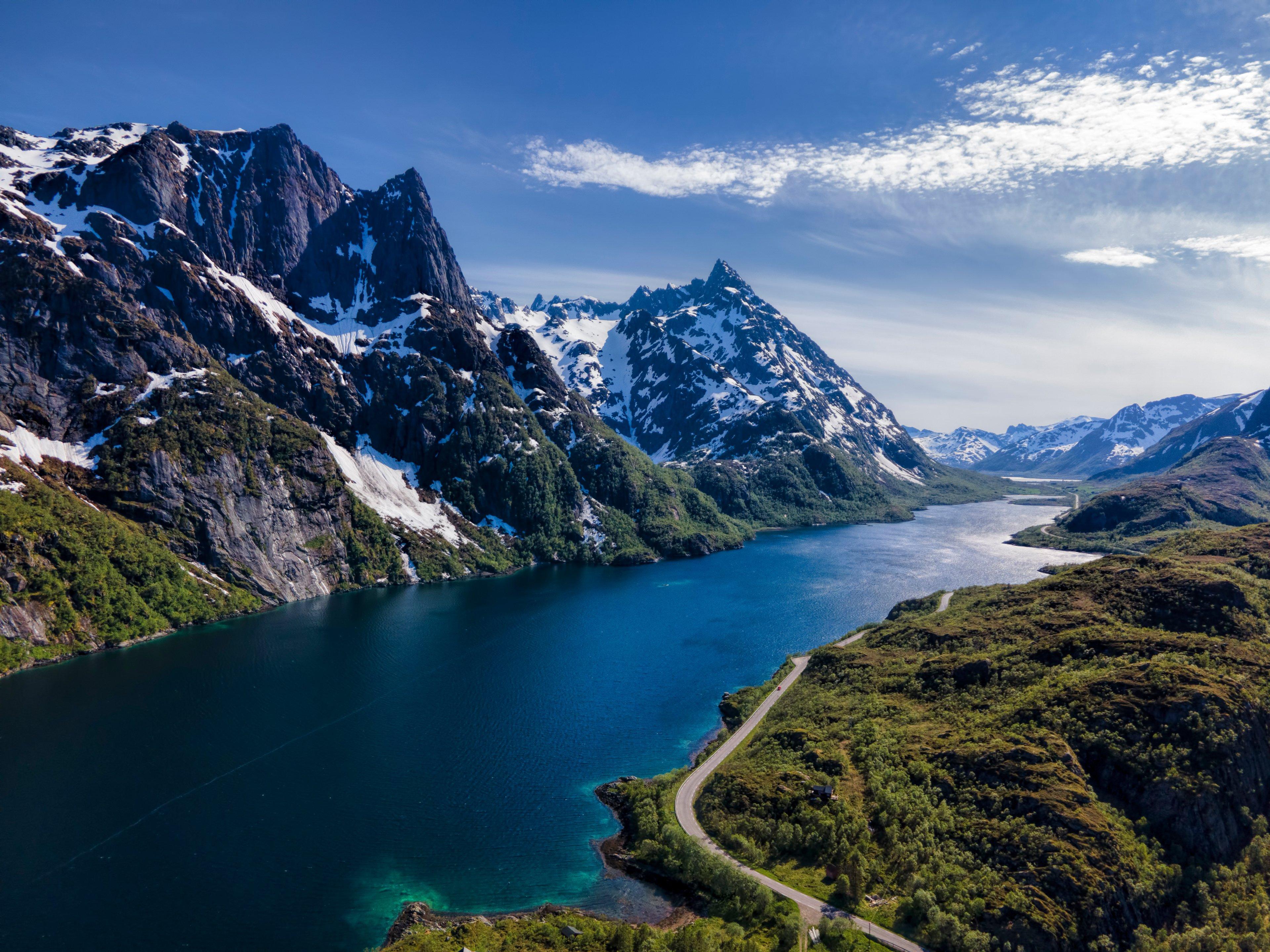 Wallpaper Mountains in Lofoten, Norway