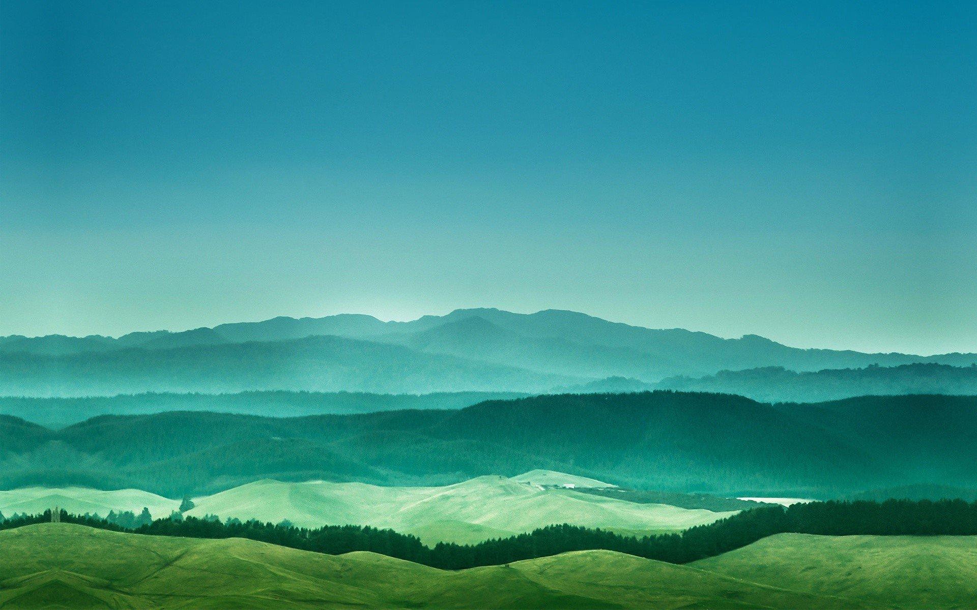 Wallpaper Distant mountains