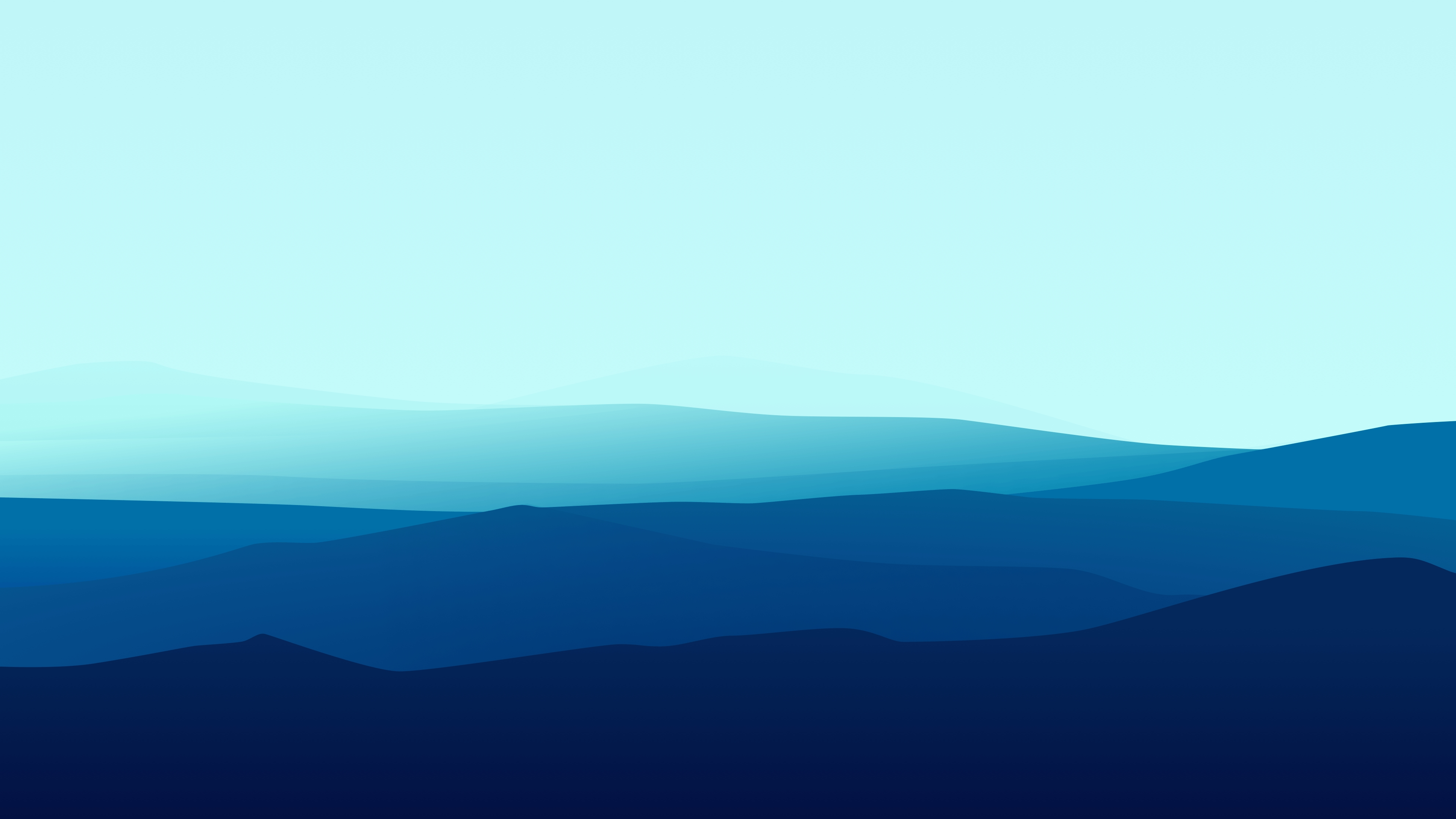 Fondos de pantalla Montañas Minimalista Degradado Azul