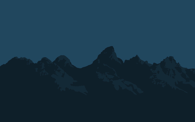 Fondos de pantalla Montañas Minimalista Flat