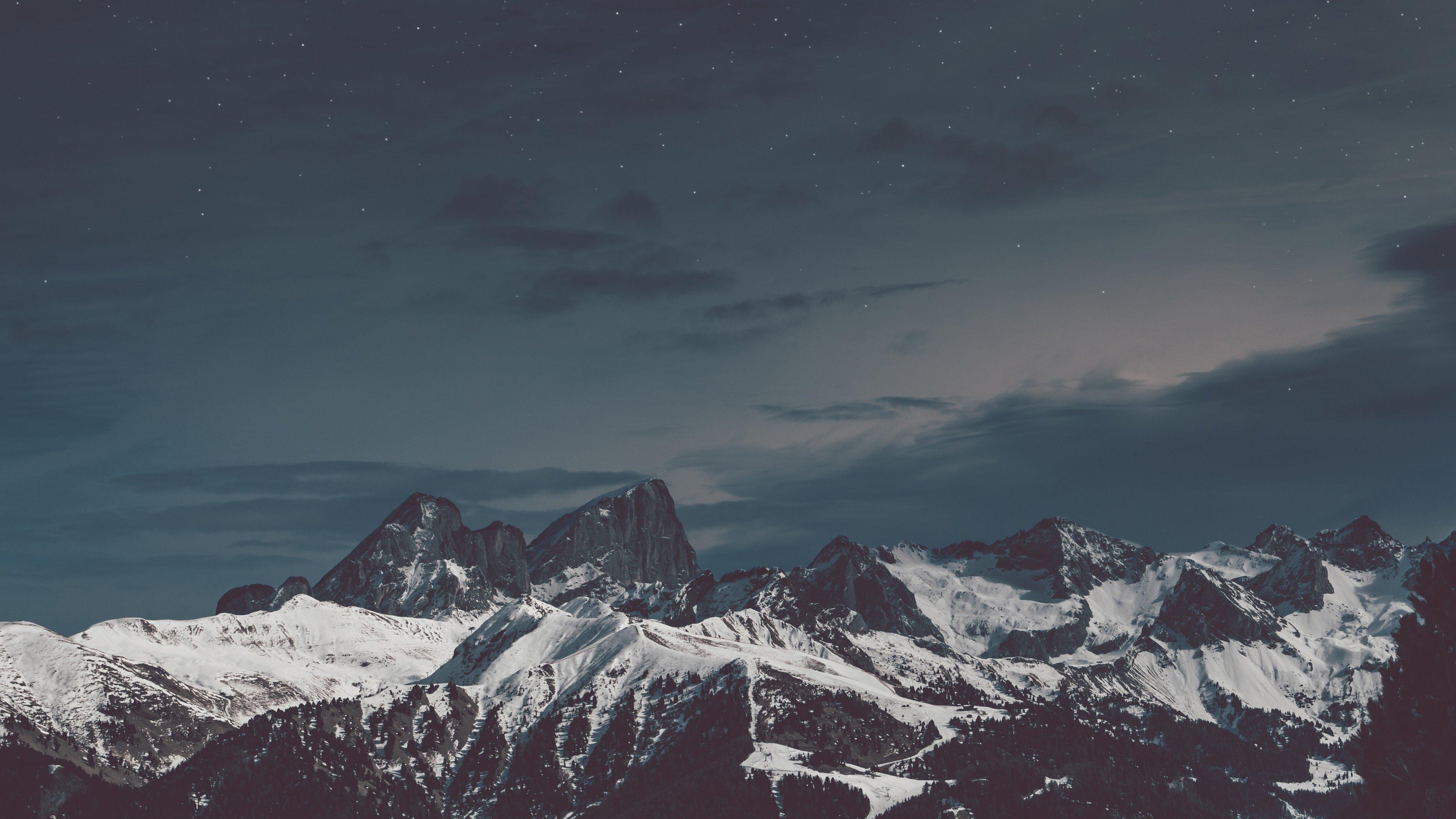 Fondos de pantalla Montañas nevadas