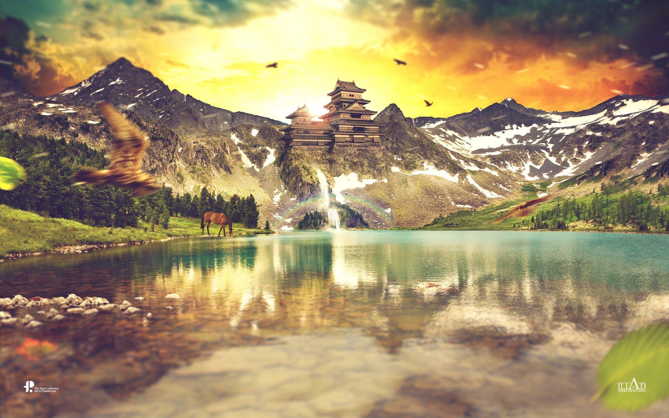 Fondos de pantalla Montañas reflejándose en las montañas