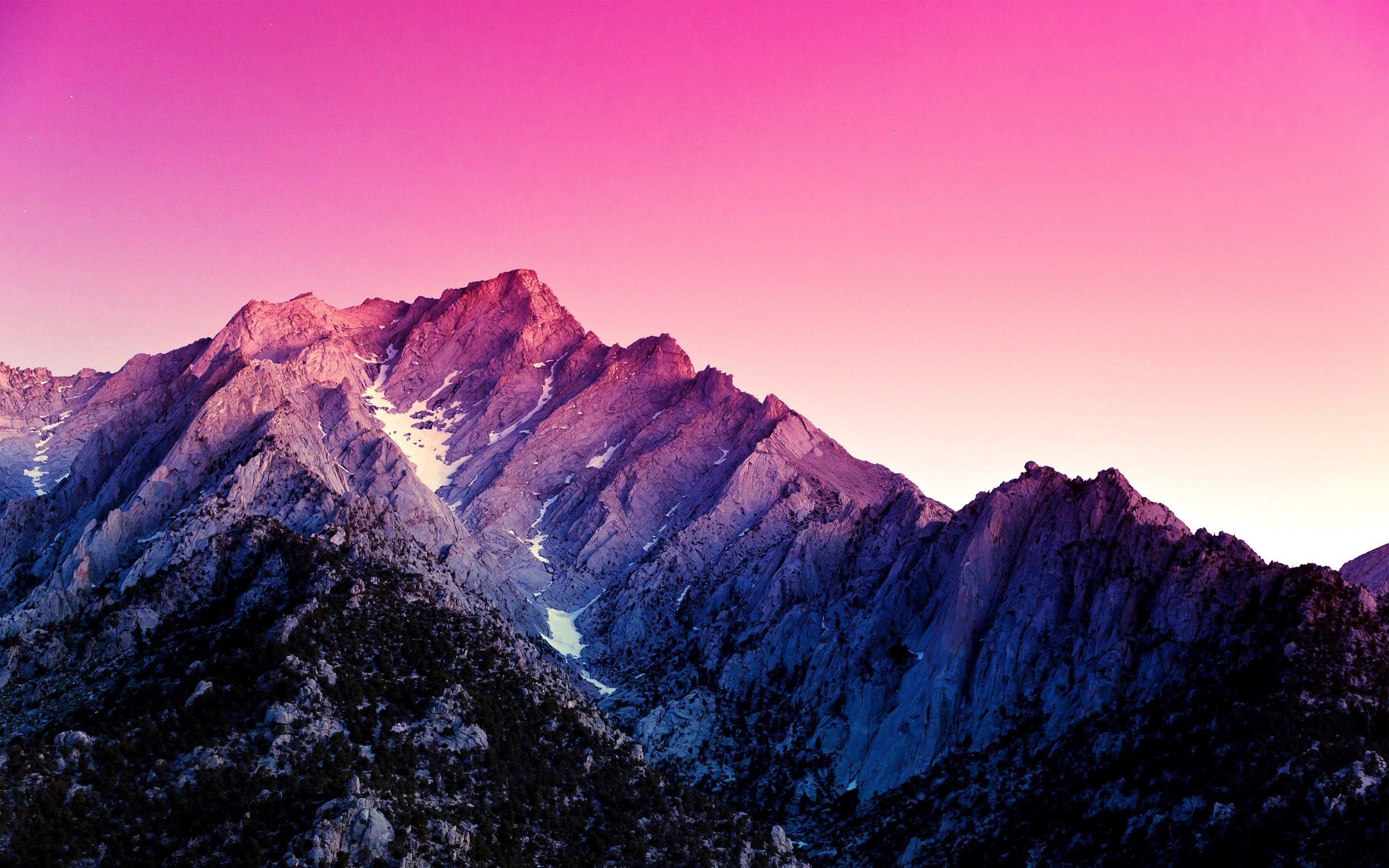 Wallpaper Pink Mountains