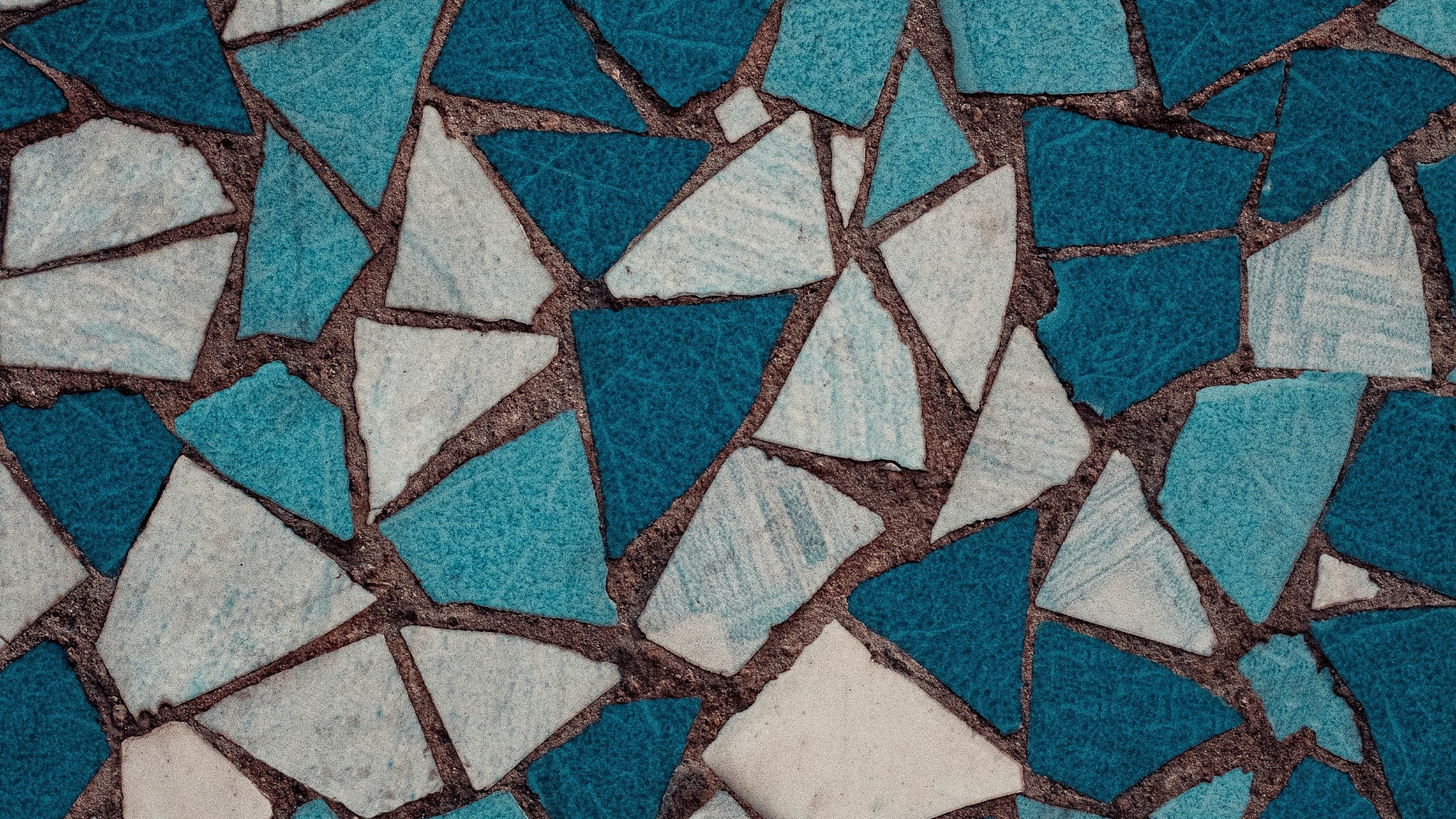 White And Blue Mosaics Wallpaper Id4267