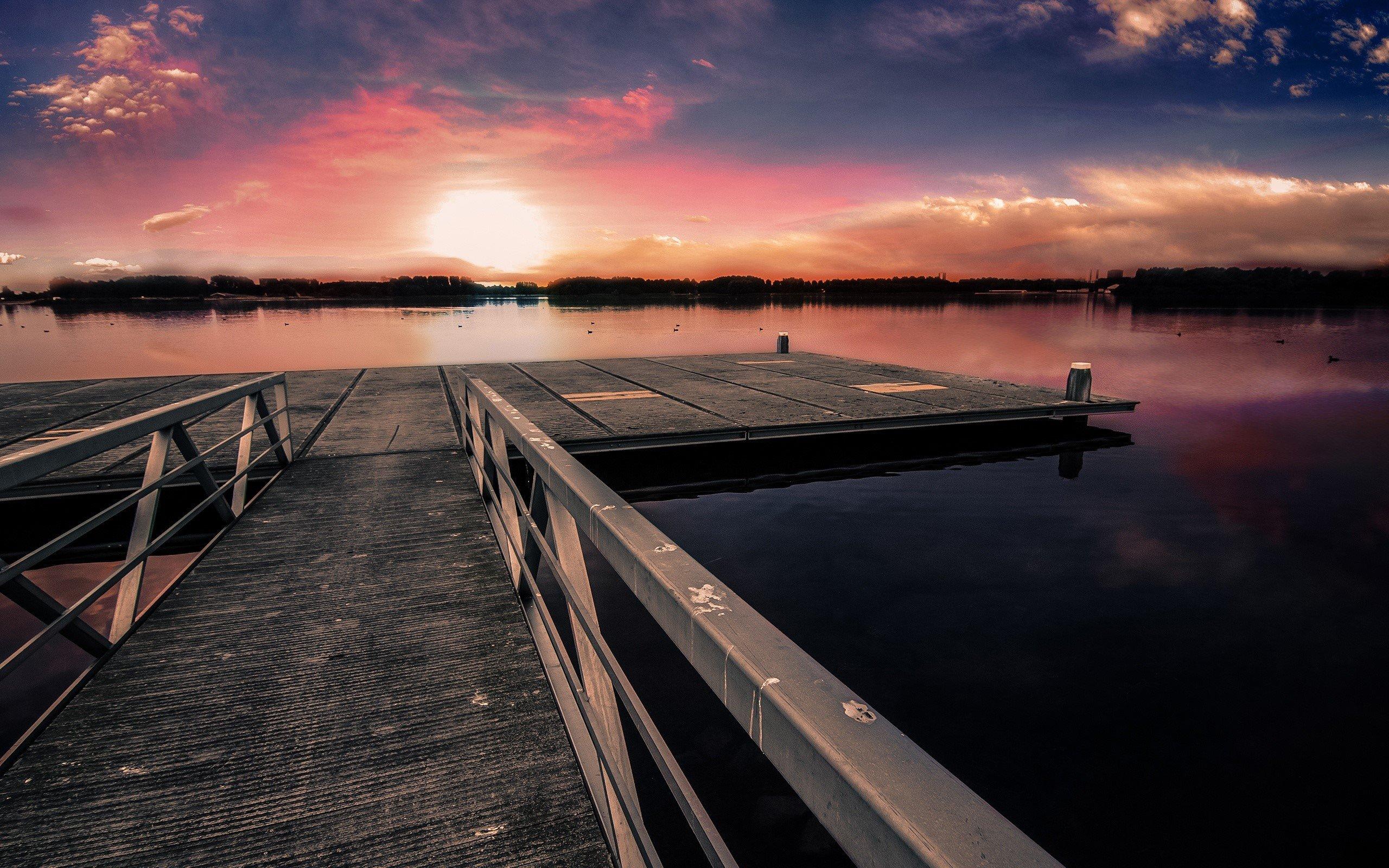 Wallpaper Pier at sunset