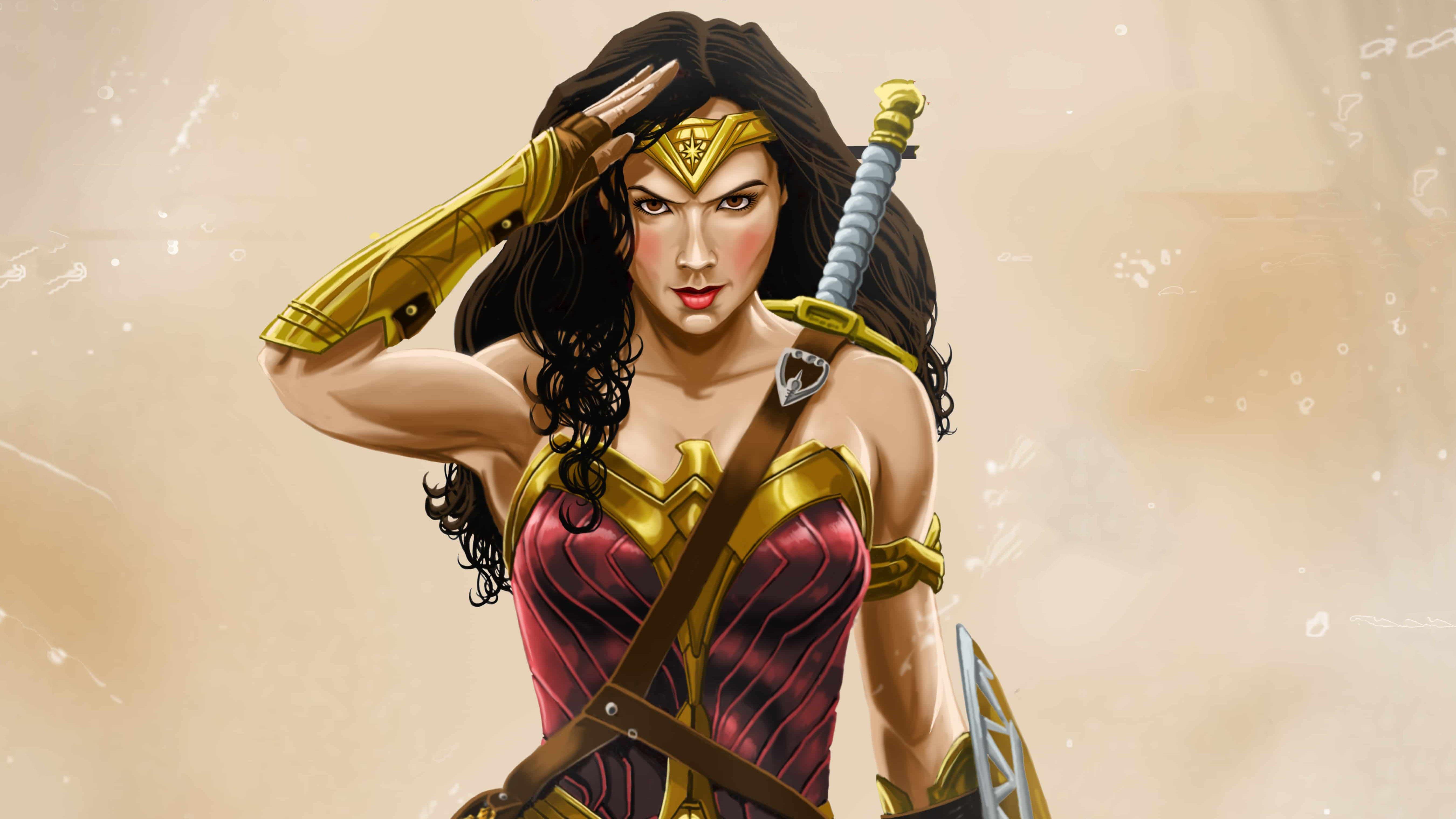 Fondos de pantalla Mujer Maravilla Ilustración
