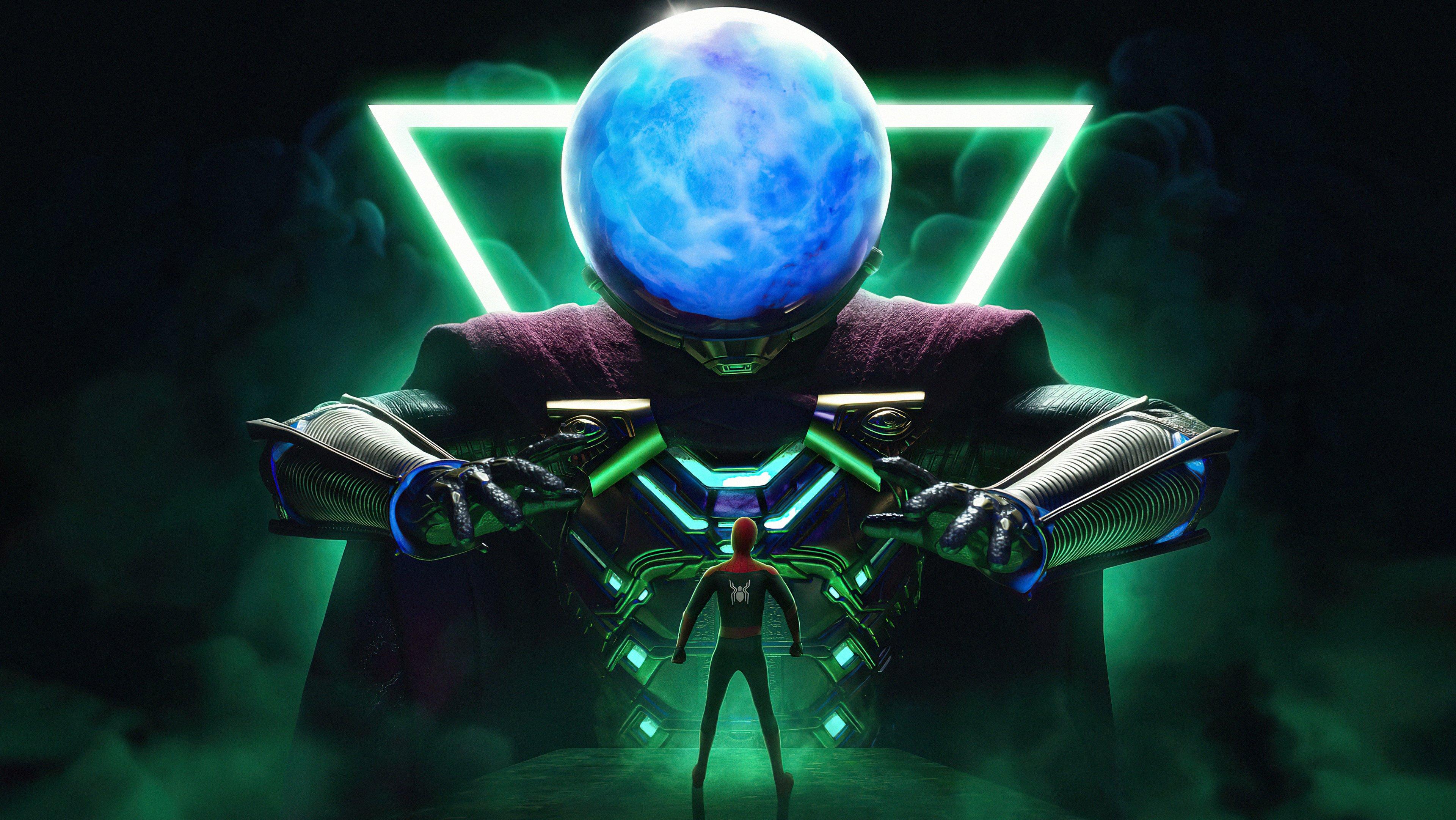 Fondos de pantalla Mysterio y Spider Man Fan Art