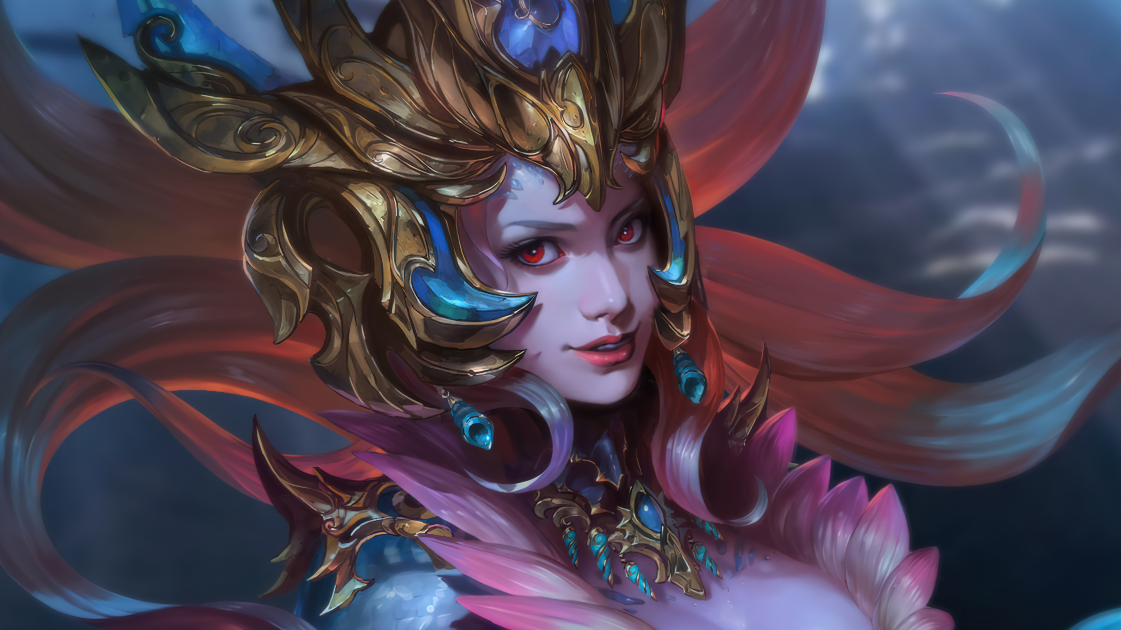 Wallpaper Nami League of Legends Art