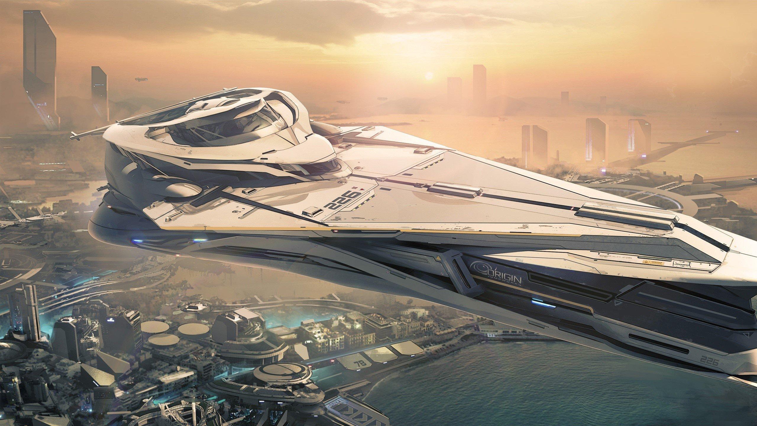 Fondo de pantalla de Nave espacial de Star Citizen Imágenes