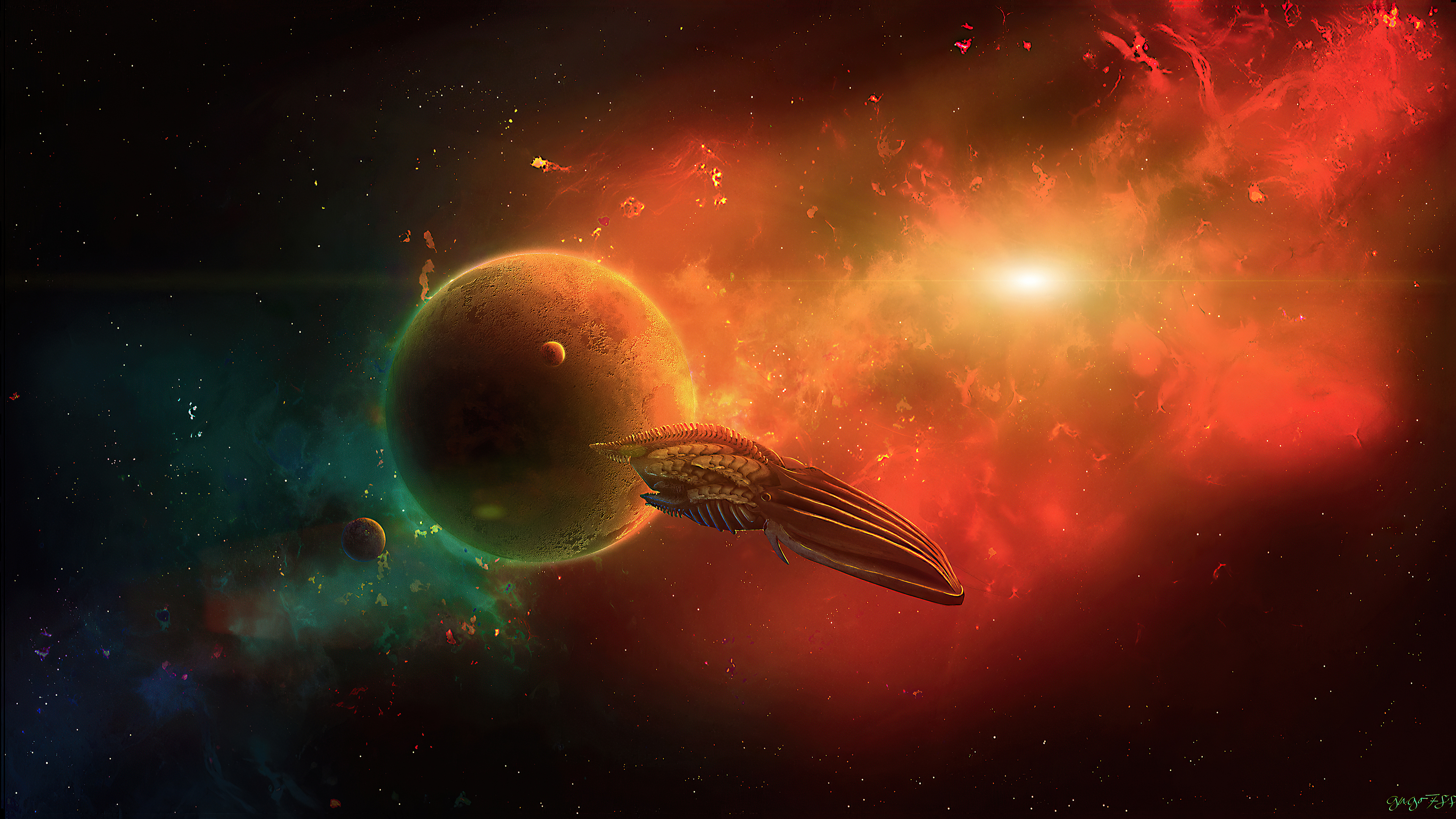 Fondos de pantalla Nave espacial en el universo