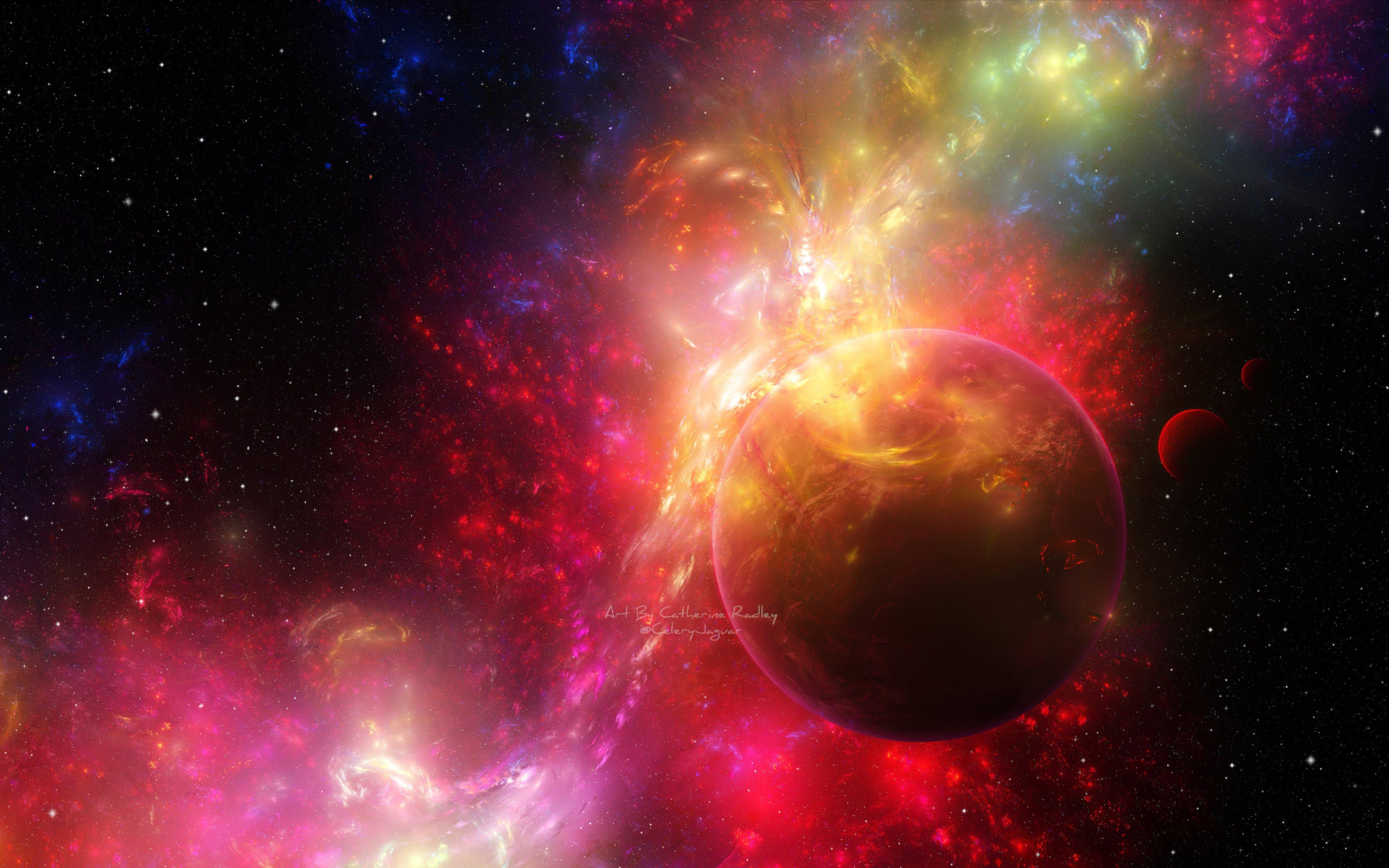 Nebula Around Planet Wallpaper 4k Ultra Hd Id4443
