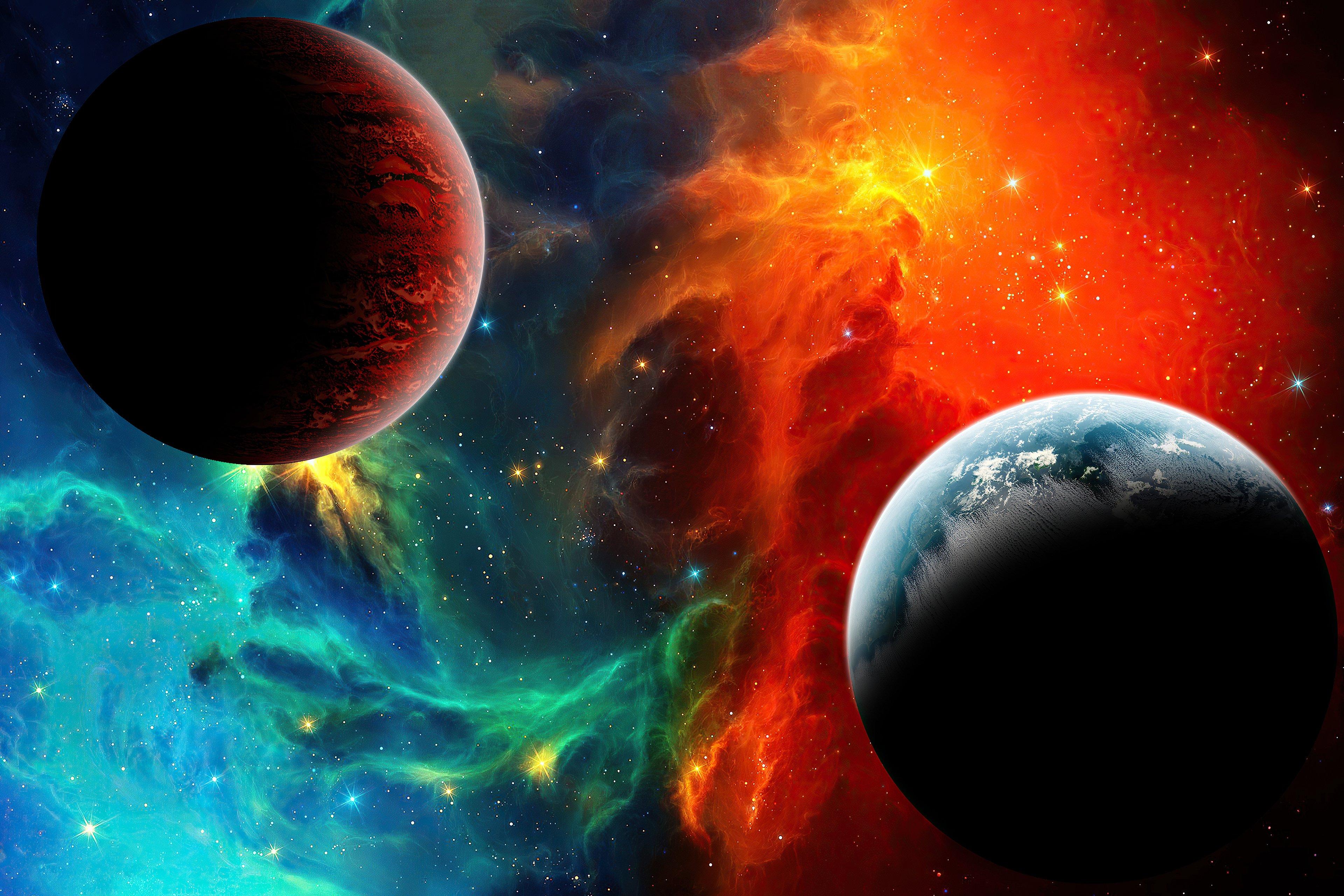 Fondos de pantalla Nebula colorida en el espacio
