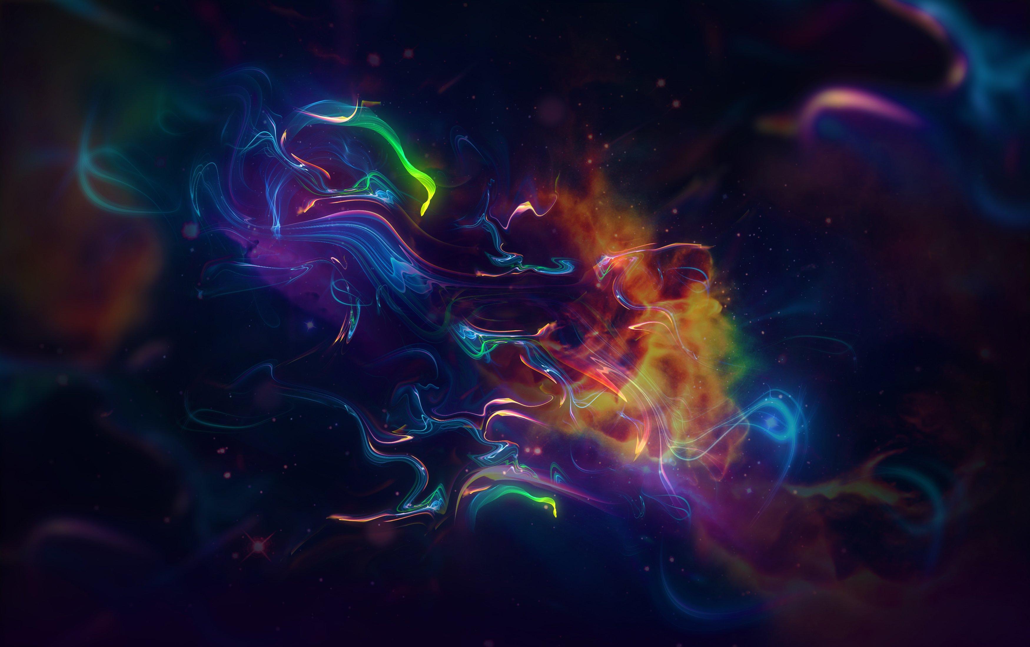 Wallpaper Nebula space colors