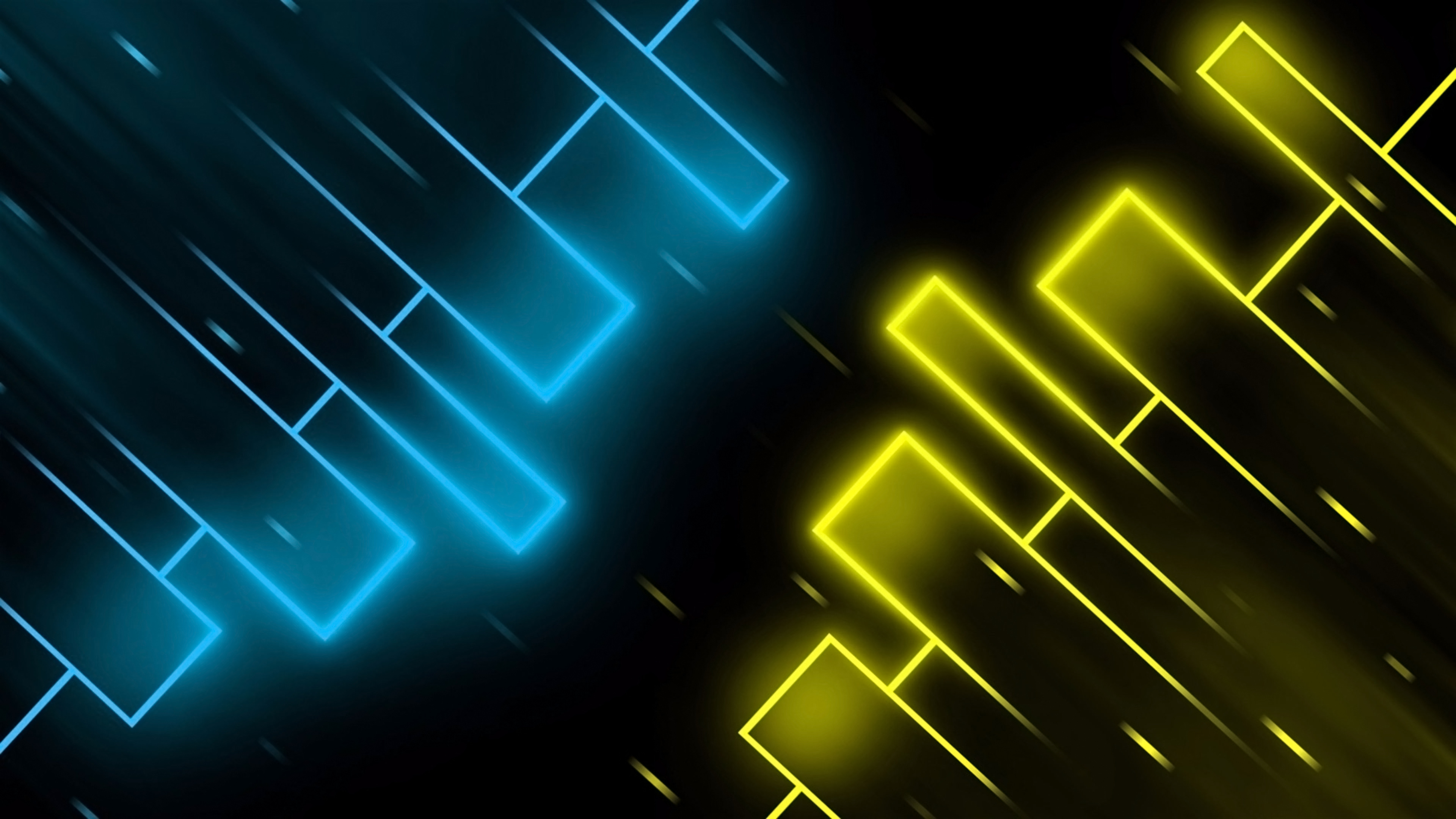 Neon Blue And Yellow Wallpaper 4k Ultra Hd Id 3464