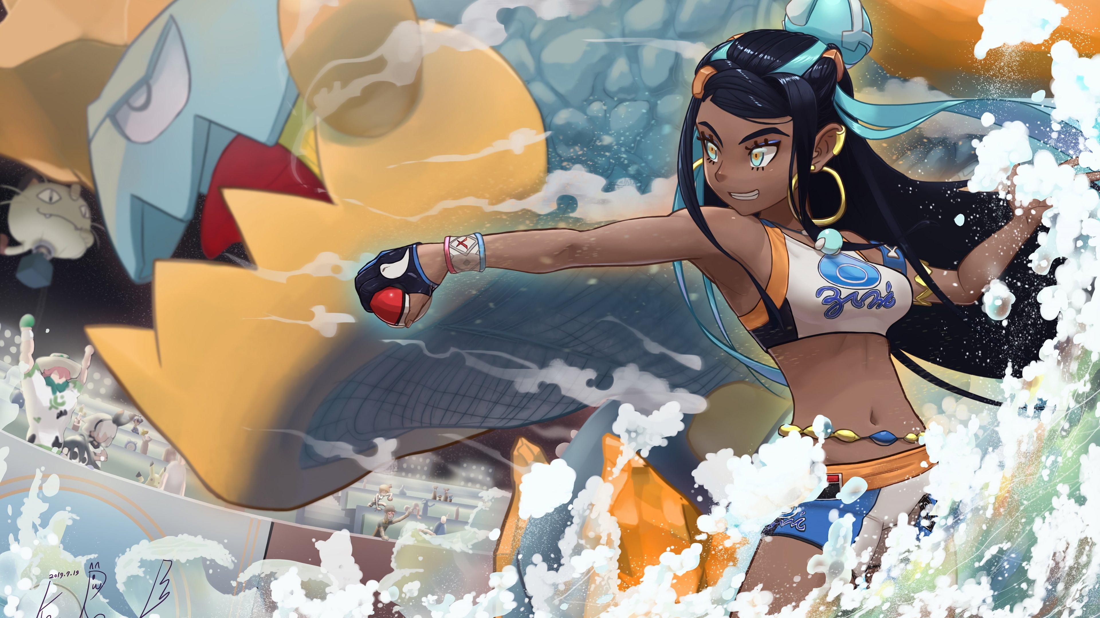Fondos de pantalla Anime Nessa y Drednaw de Pokemon Espada y Pokemon Escudo