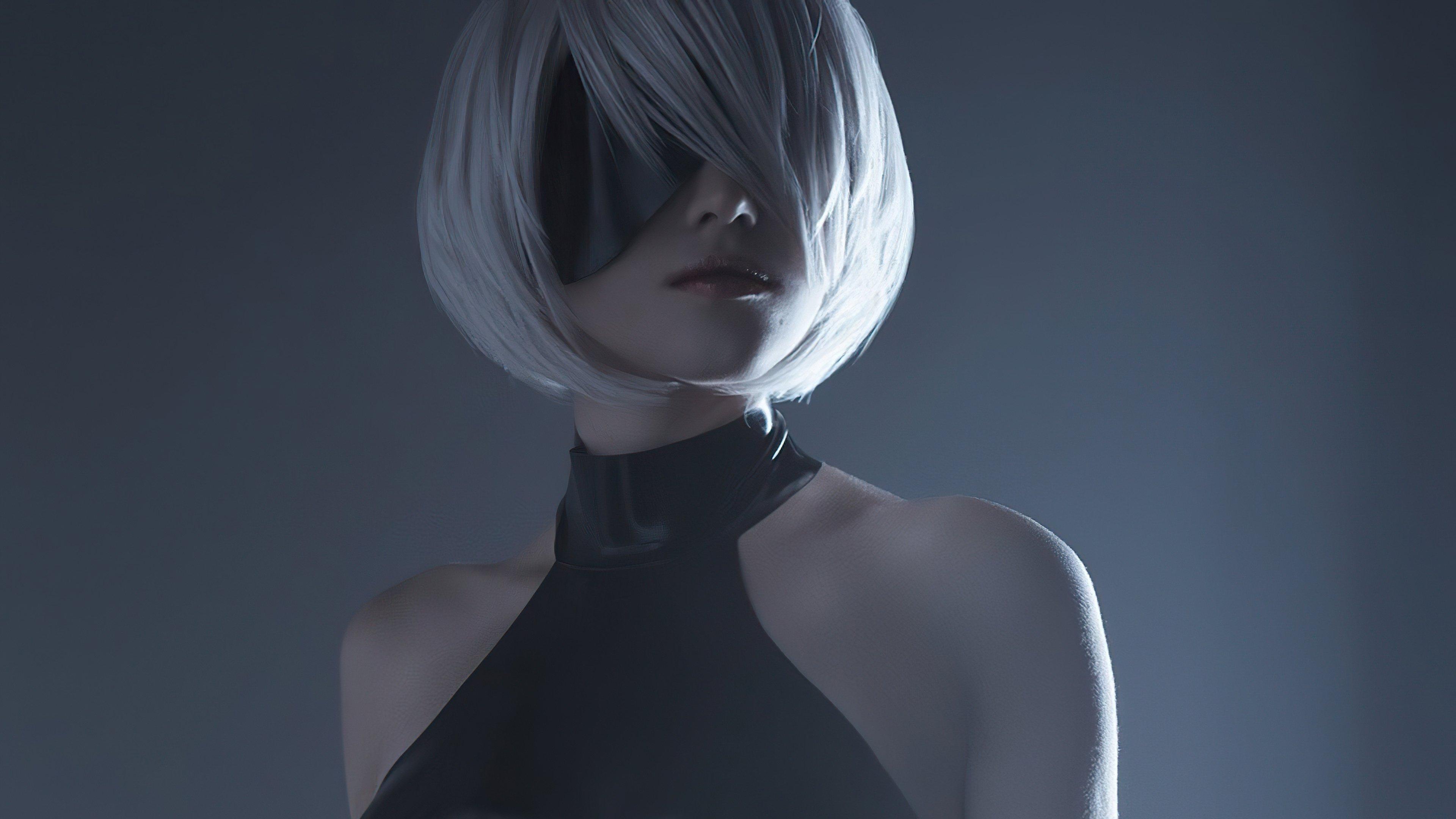 Fondos de pantalla Nier Automata con cabello corto