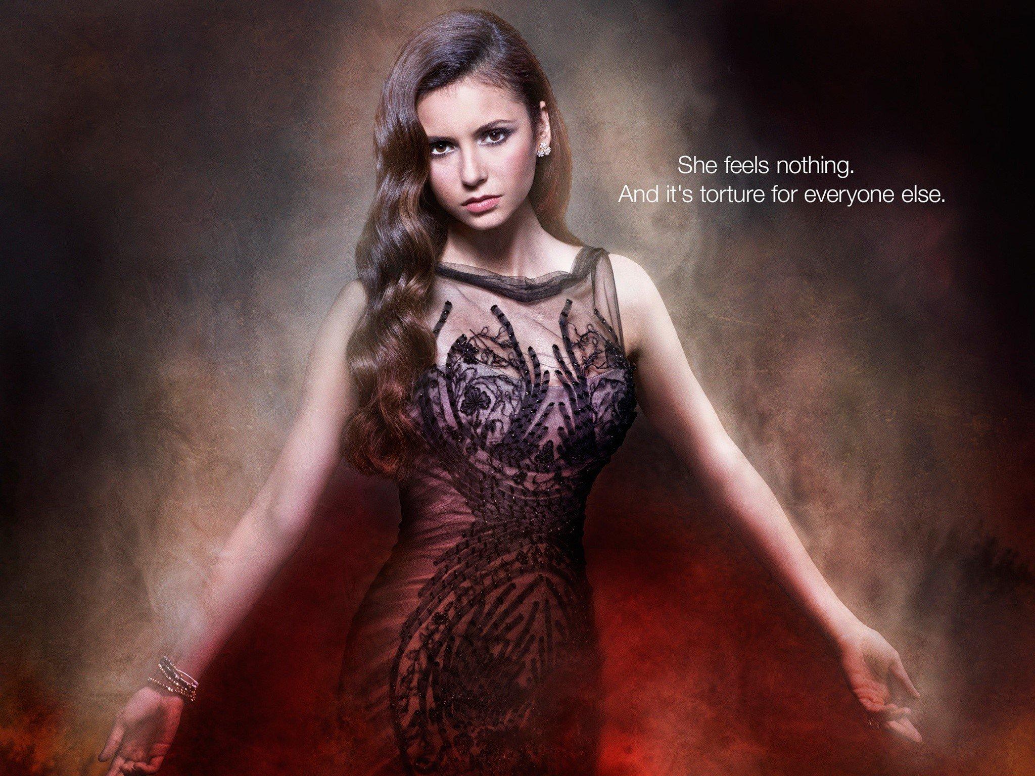 Wallpaper Nina Dobrev as Elena Gilbert