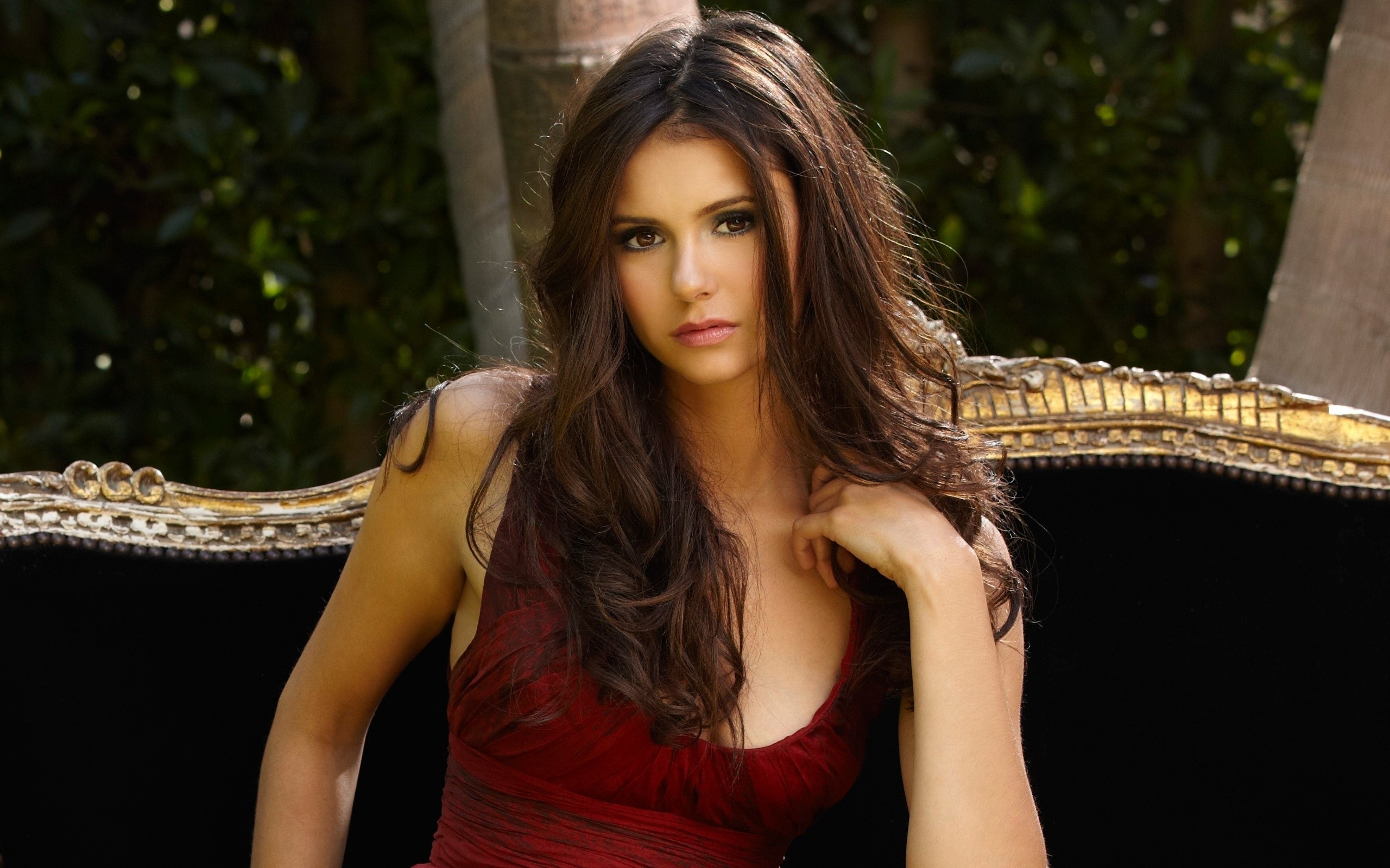 Wallpaper Nina Dobrev in an armchair