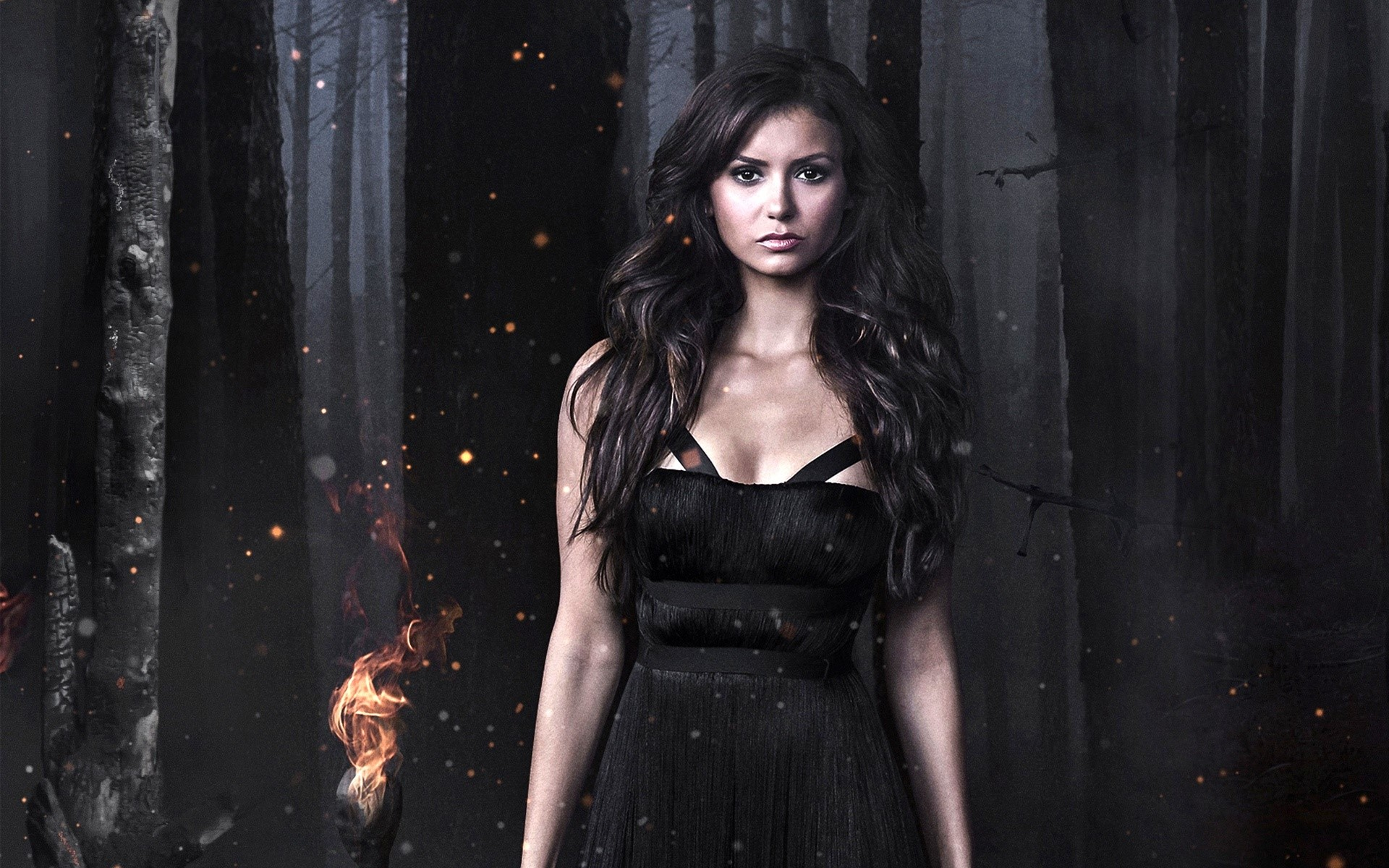 Wallpaper Nina Dobrev for Vampire Diaries