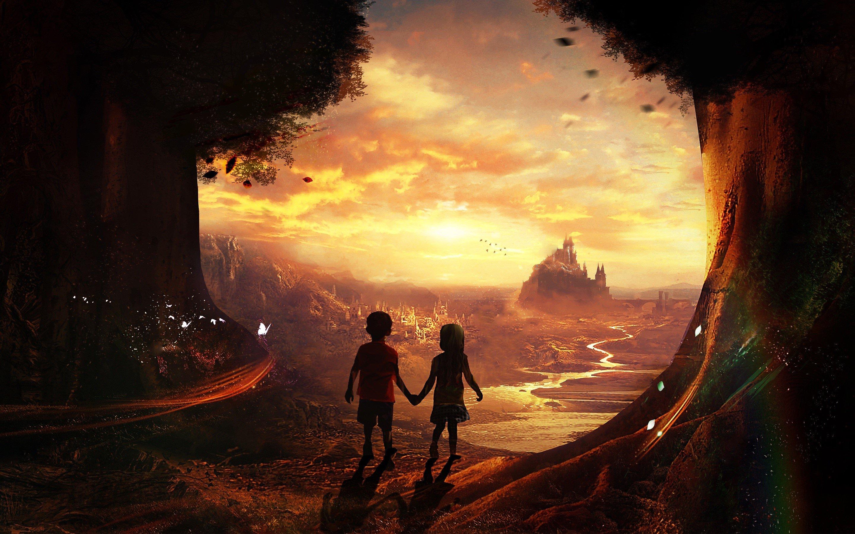 Wallpaper Children in a fairy tale