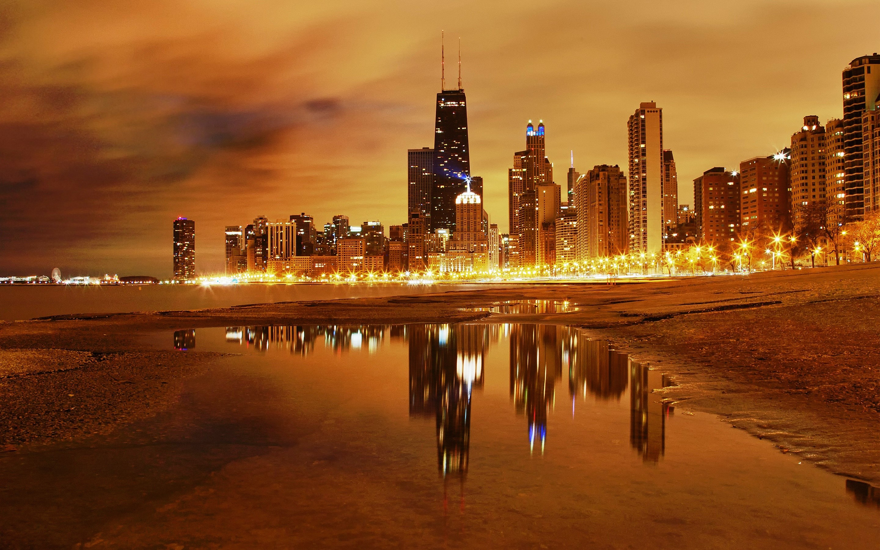 Wallpaper Noches en Chicago Images