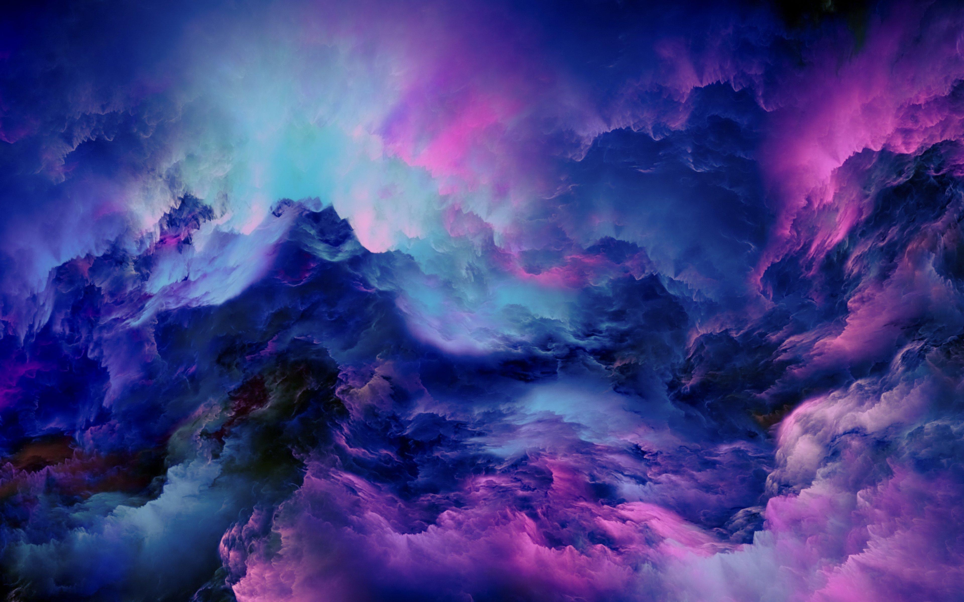 Fondos de pantalla Nubes abstractas iluminadas