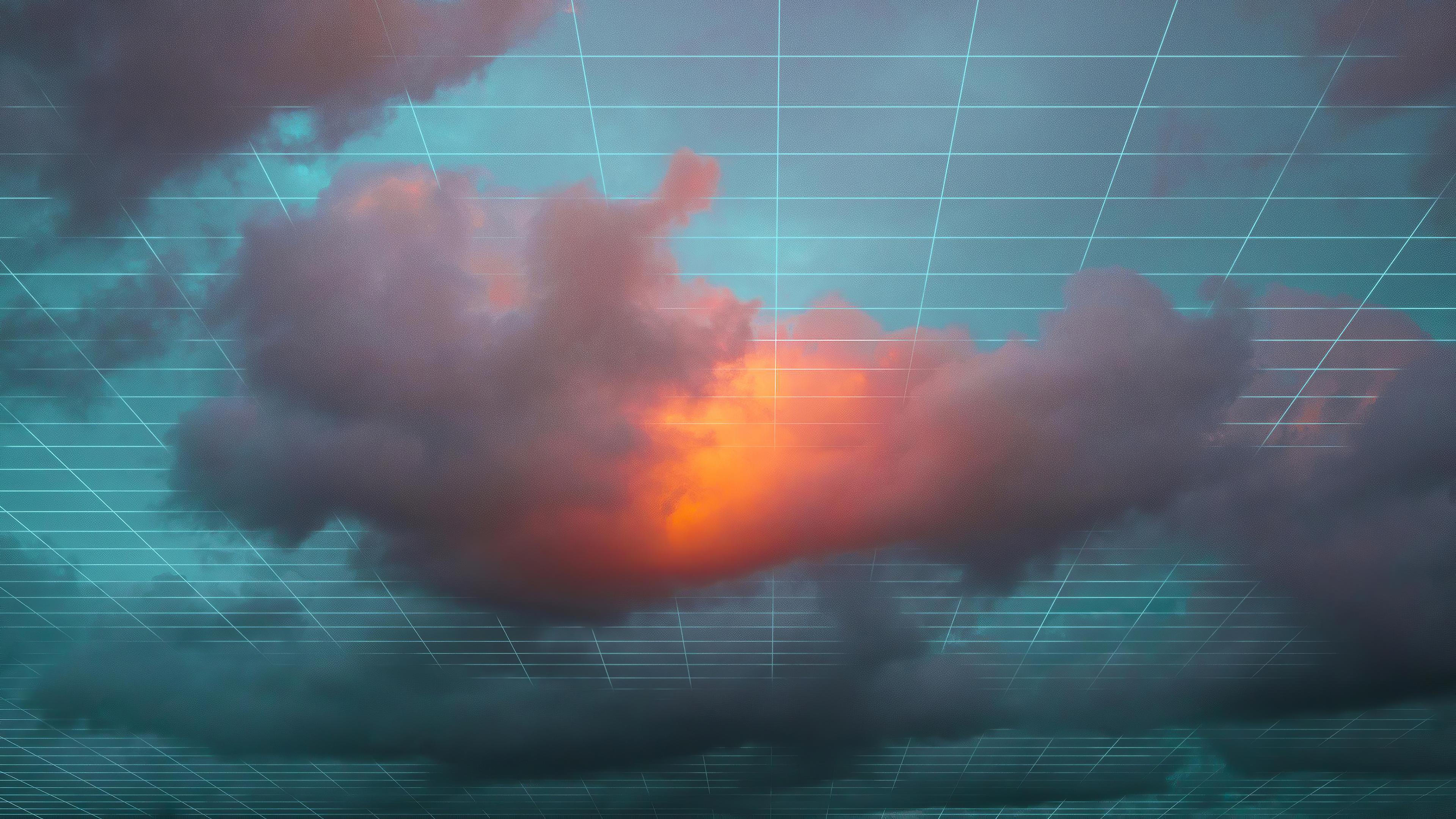 Fondos de pantalla Nubes digitales