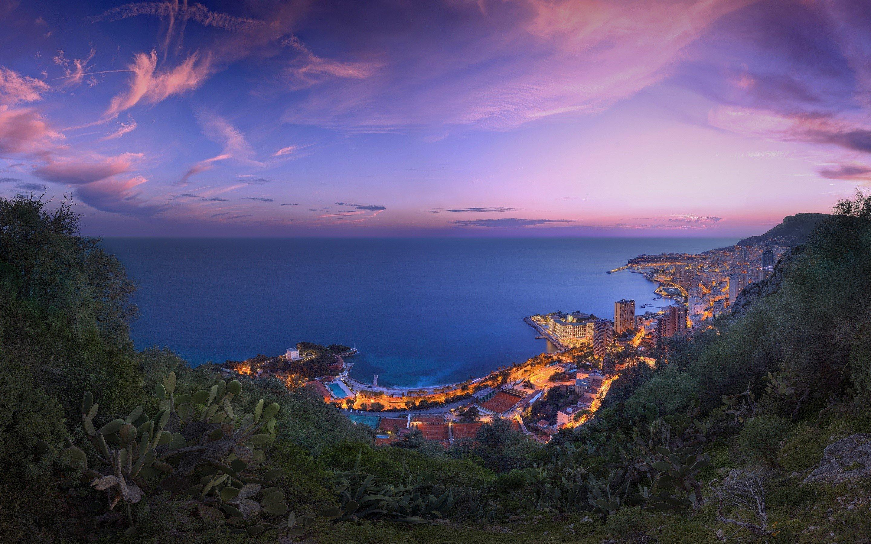 Wallpaper Pink clouds of Monaco