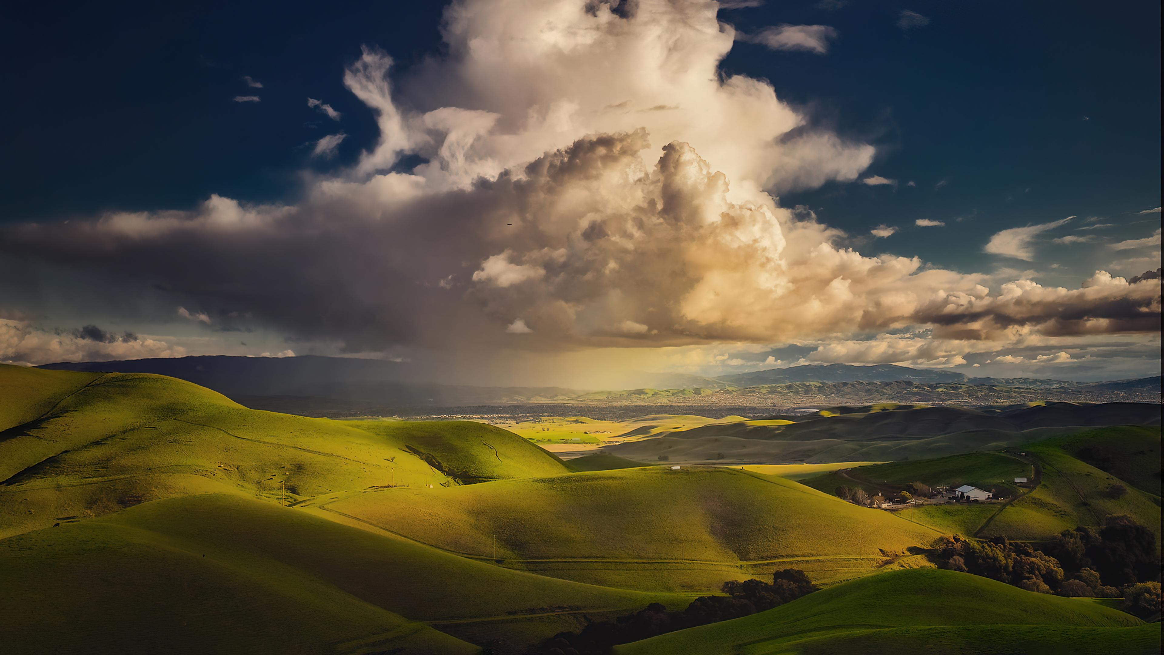 Fondos de pantalla Nubes sobre valle