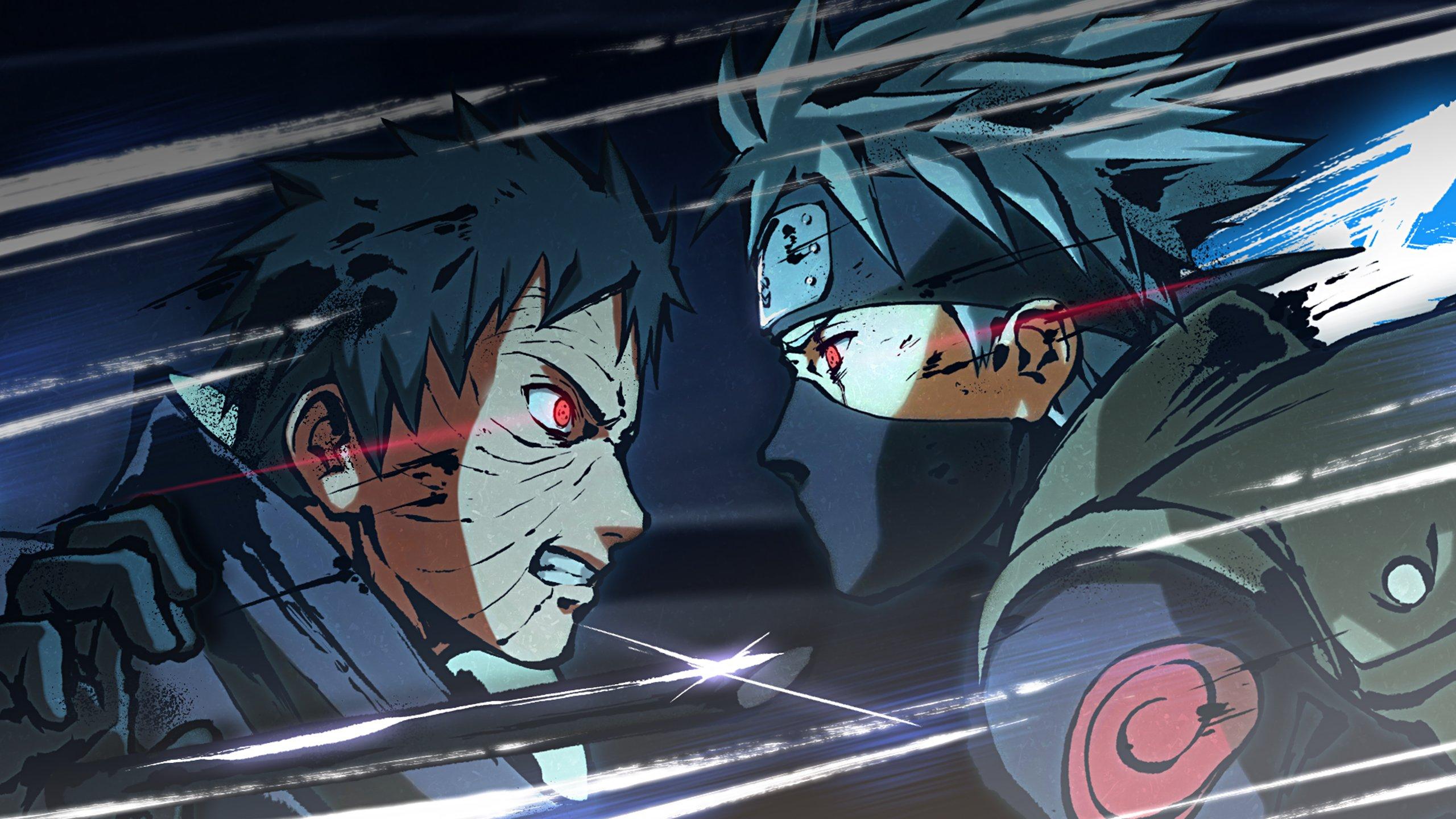 Fondos de pantalla Obito Uchiha contra Kakashi Hatake