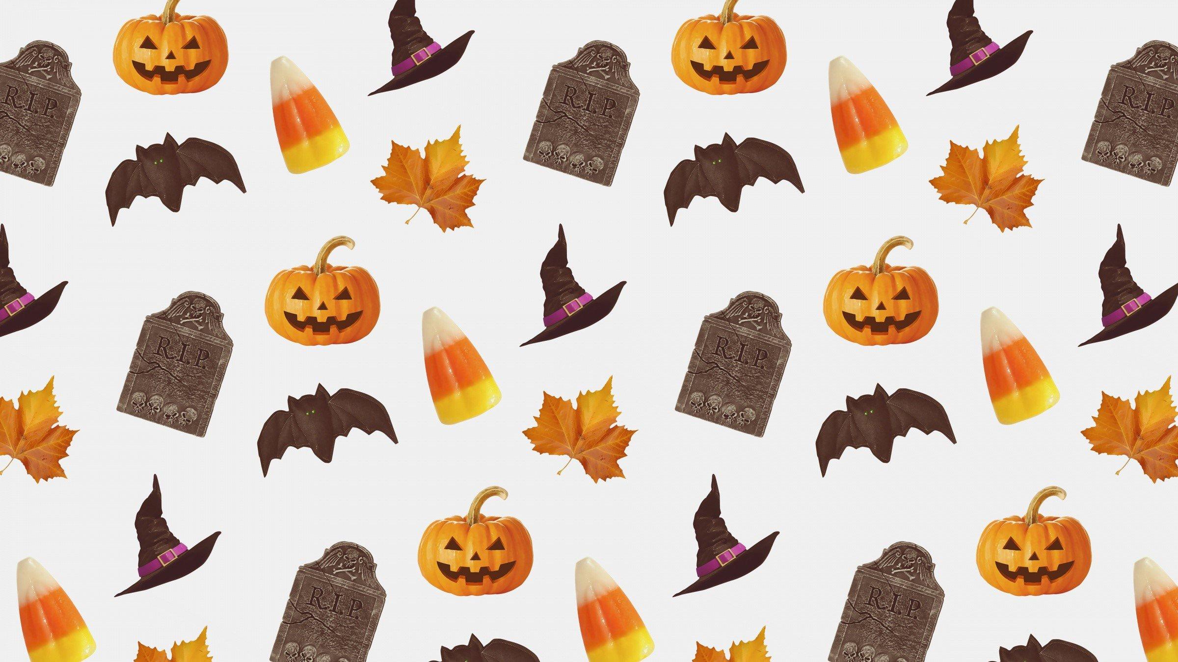 Wallpaper Halloween objects