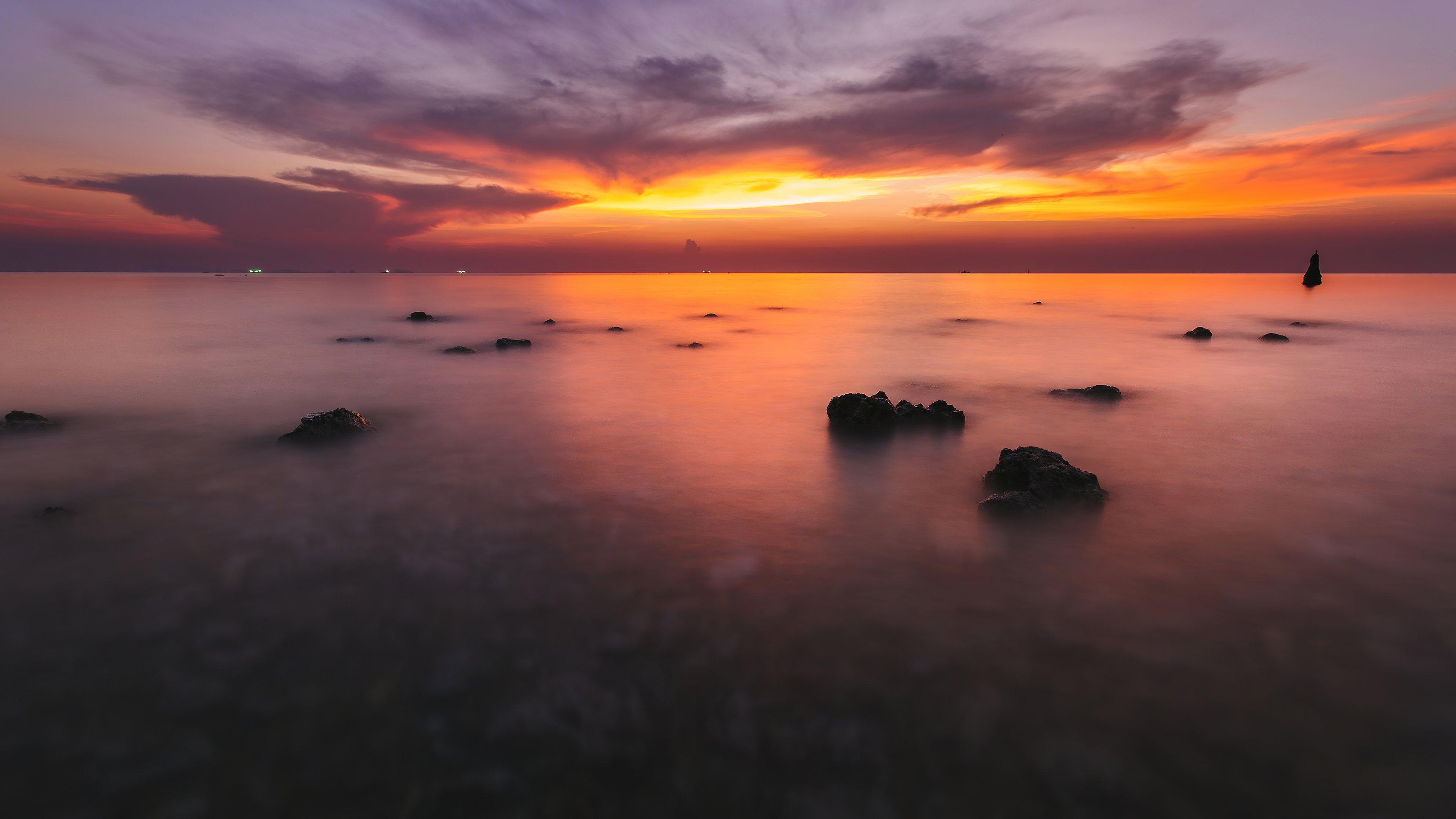 Wallpaper Silent ocean sunset