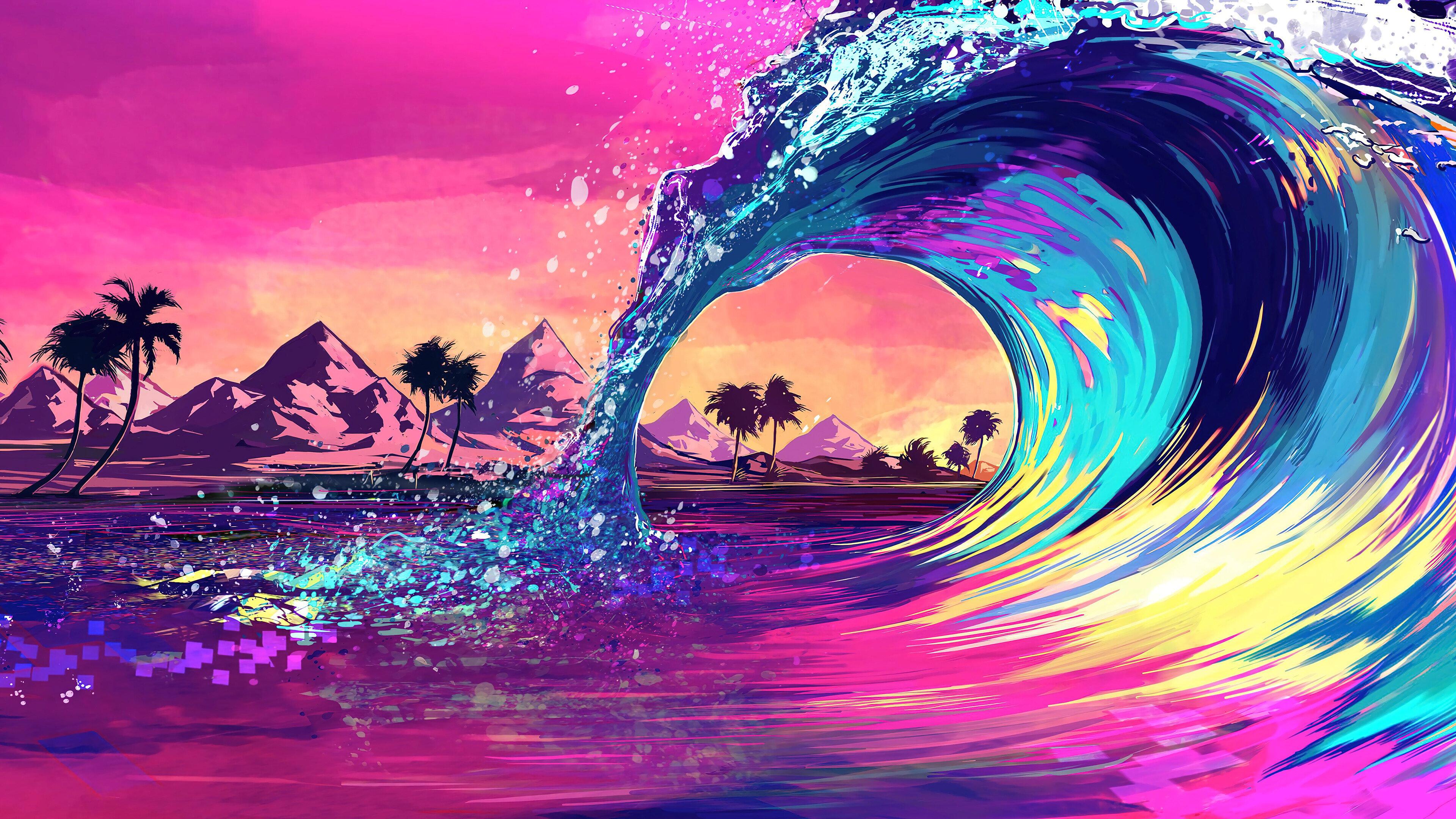 Fondos de pantalla Ola de colores