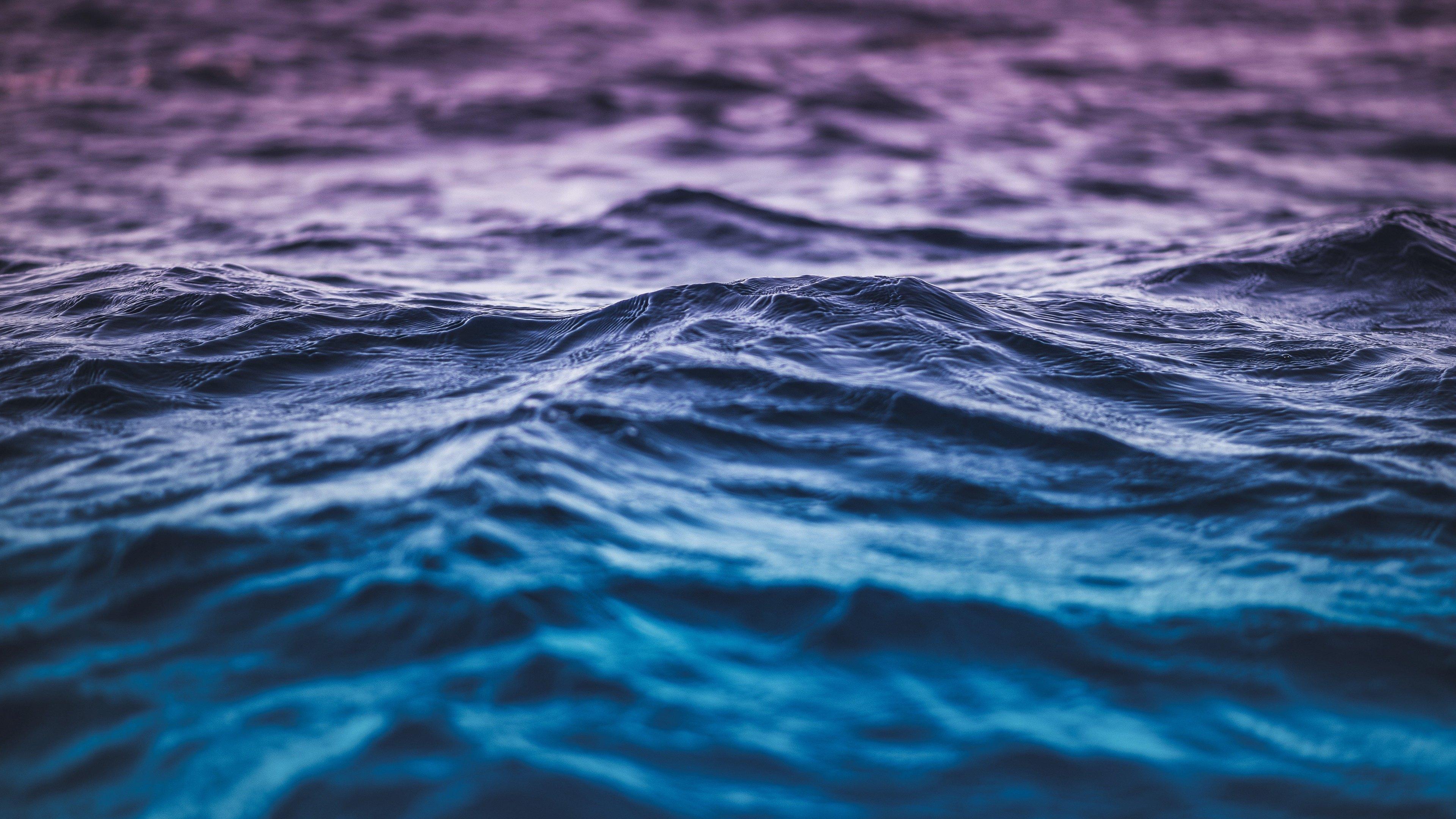 Blue And Purple Gradient Waves Wallpaper 4k Ultra Hd Id 3453
