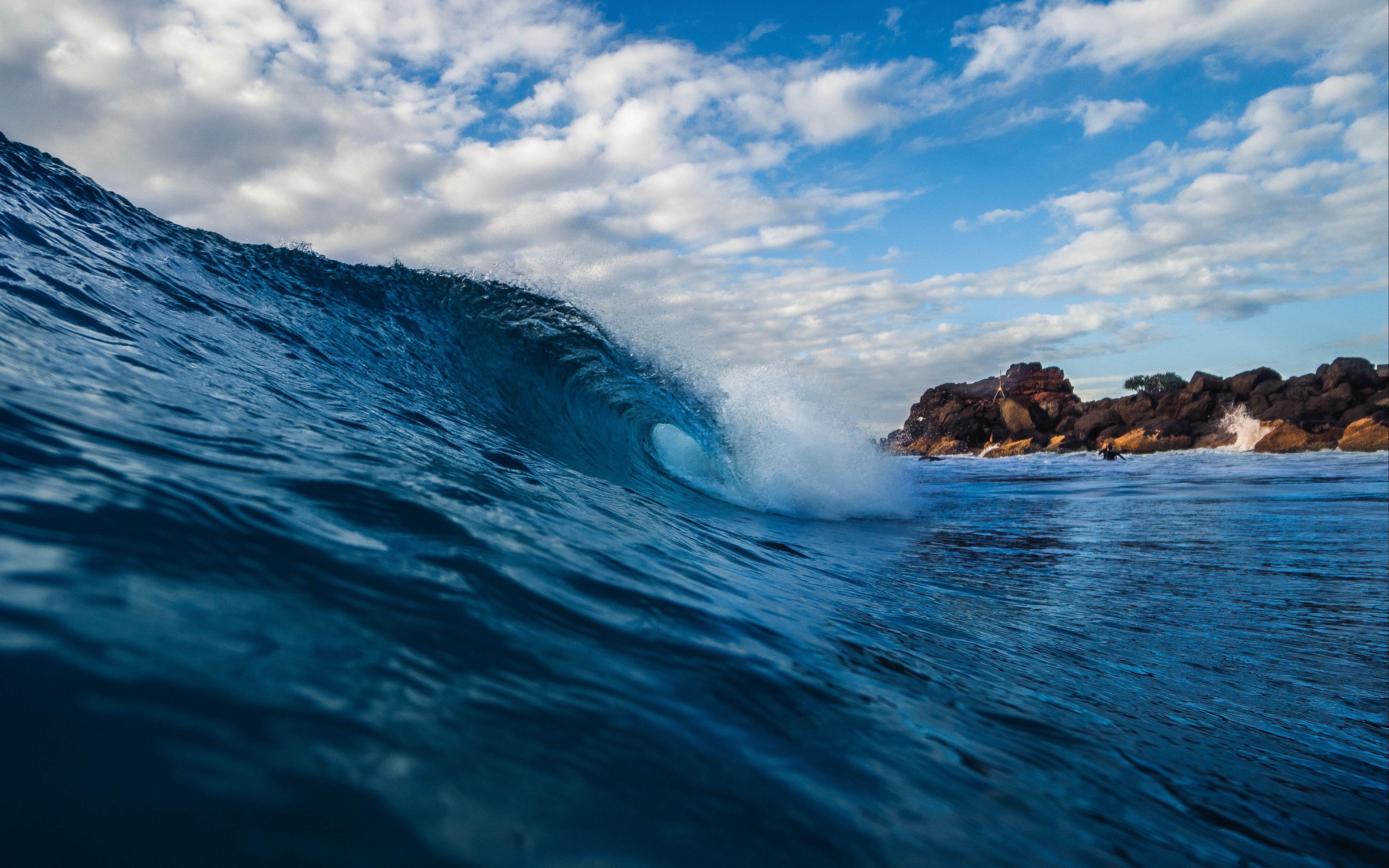 Fondos de pantalla Olas en el mar