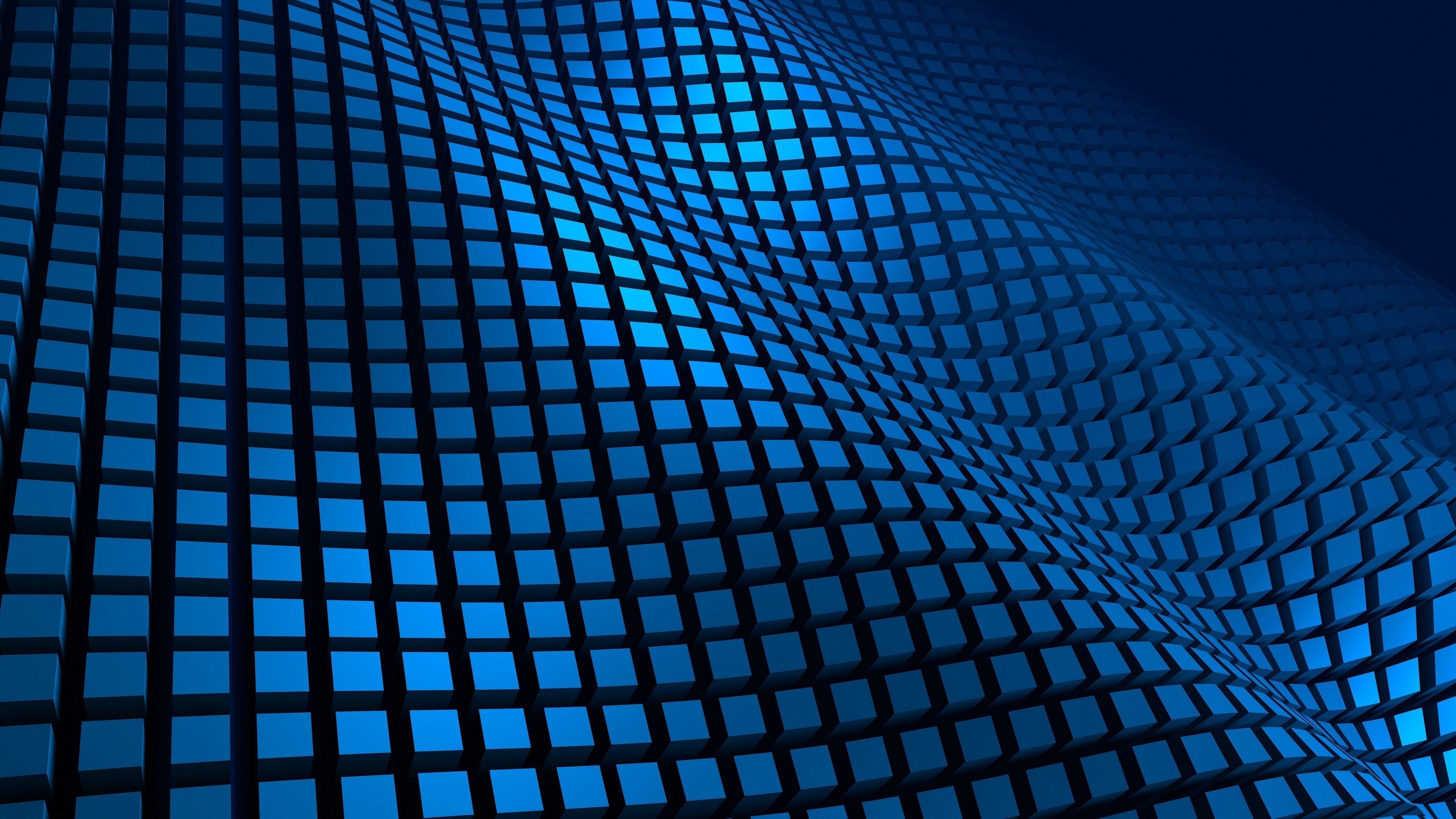 Fondos de pantalla Ondas a cuadros azules 3D