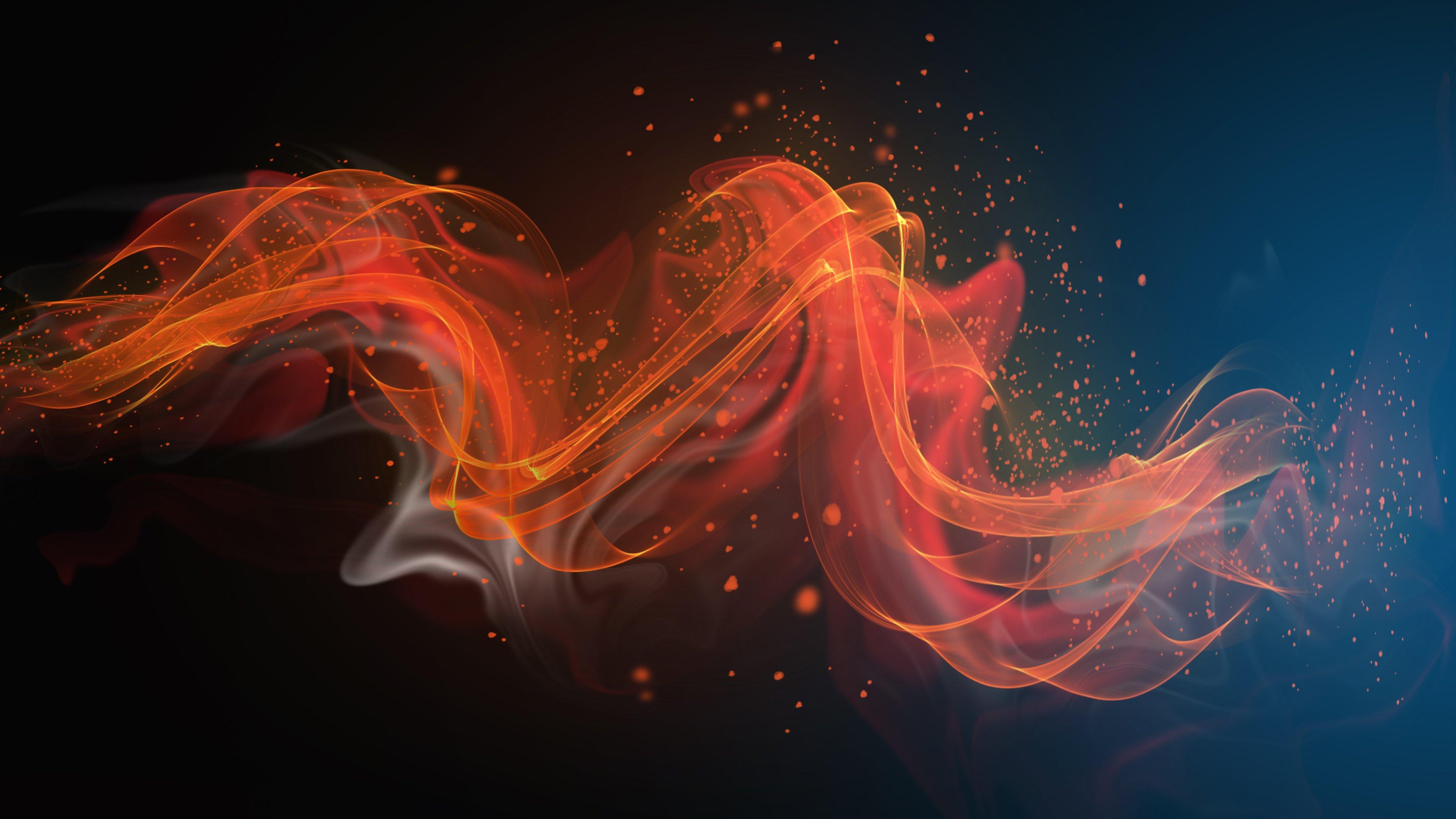 Fondos de pantalla Ondas naranjas abstractas
