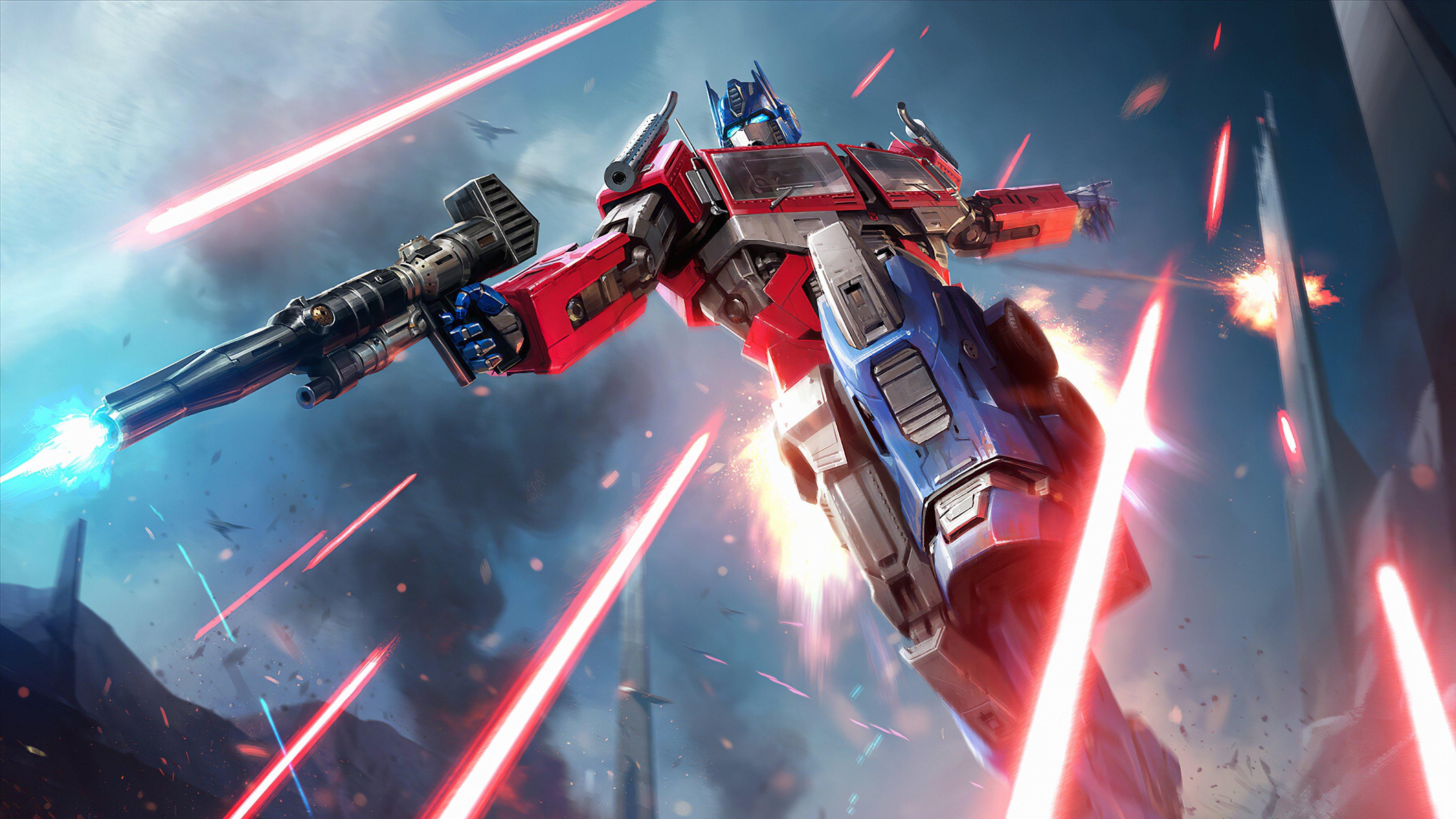 Fondos de pantalla Optimus Prime peleando