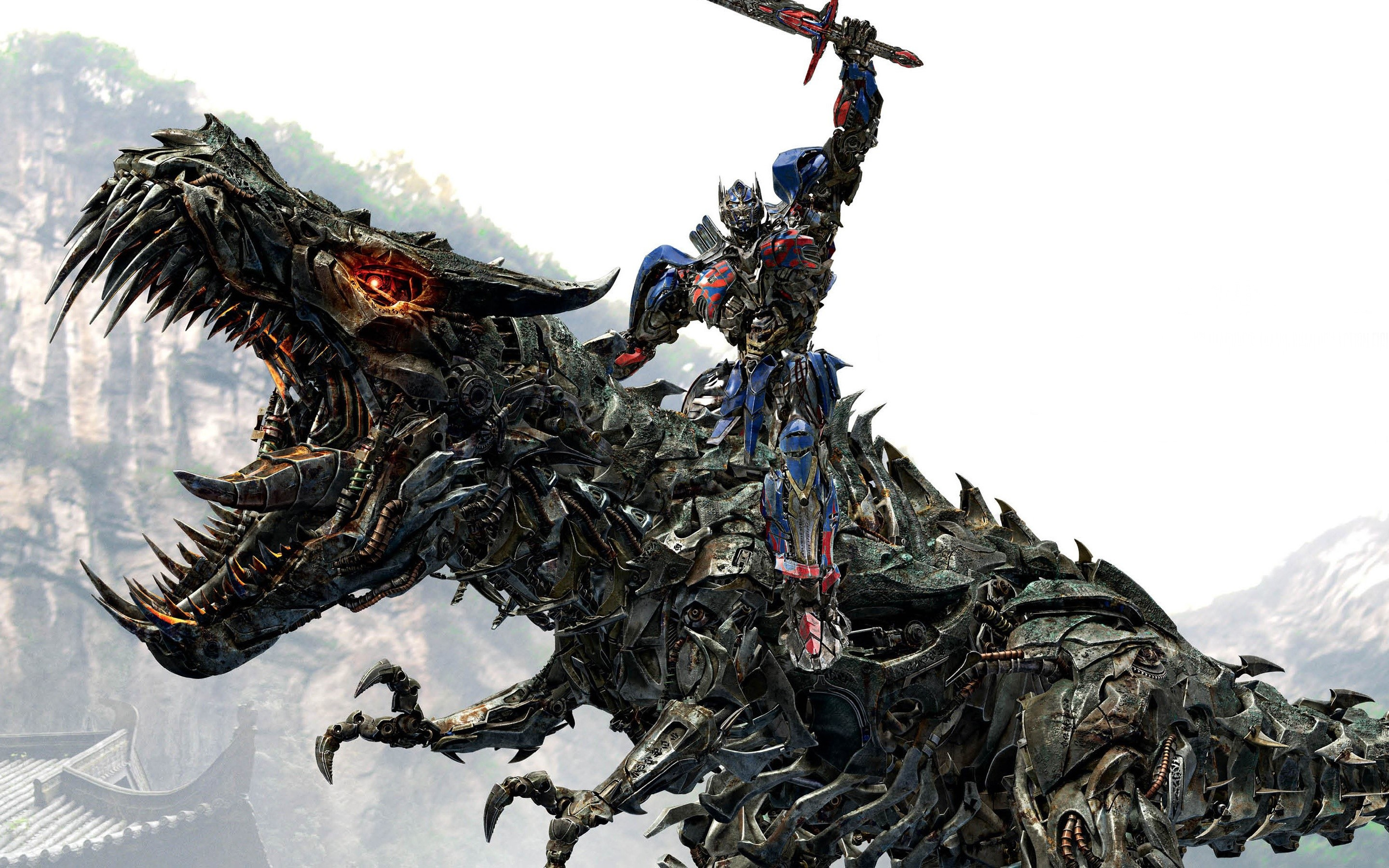 Wallpaper Optimus Prime on Grimlock