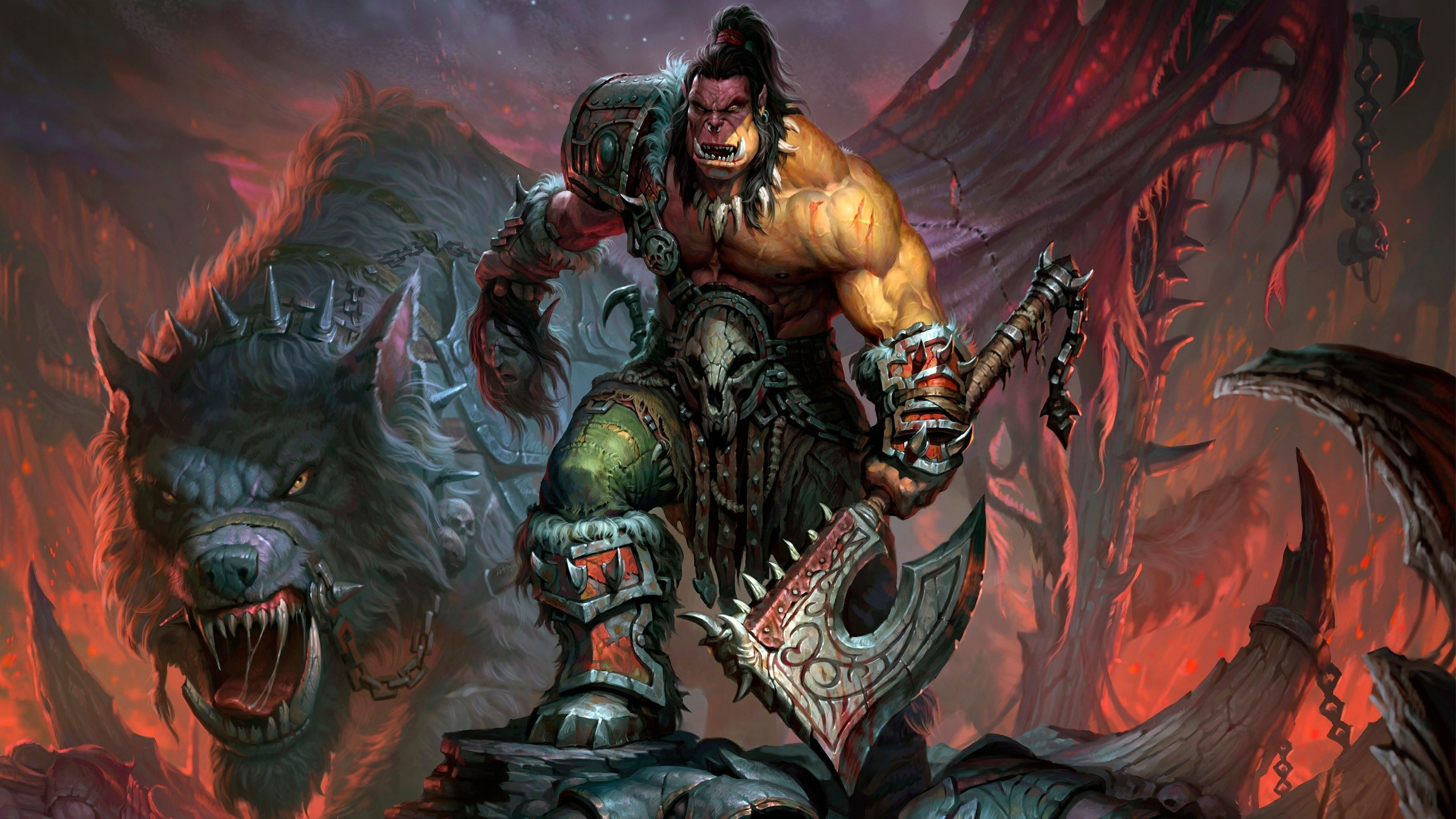 Wallpaper Orc de World of warcraft