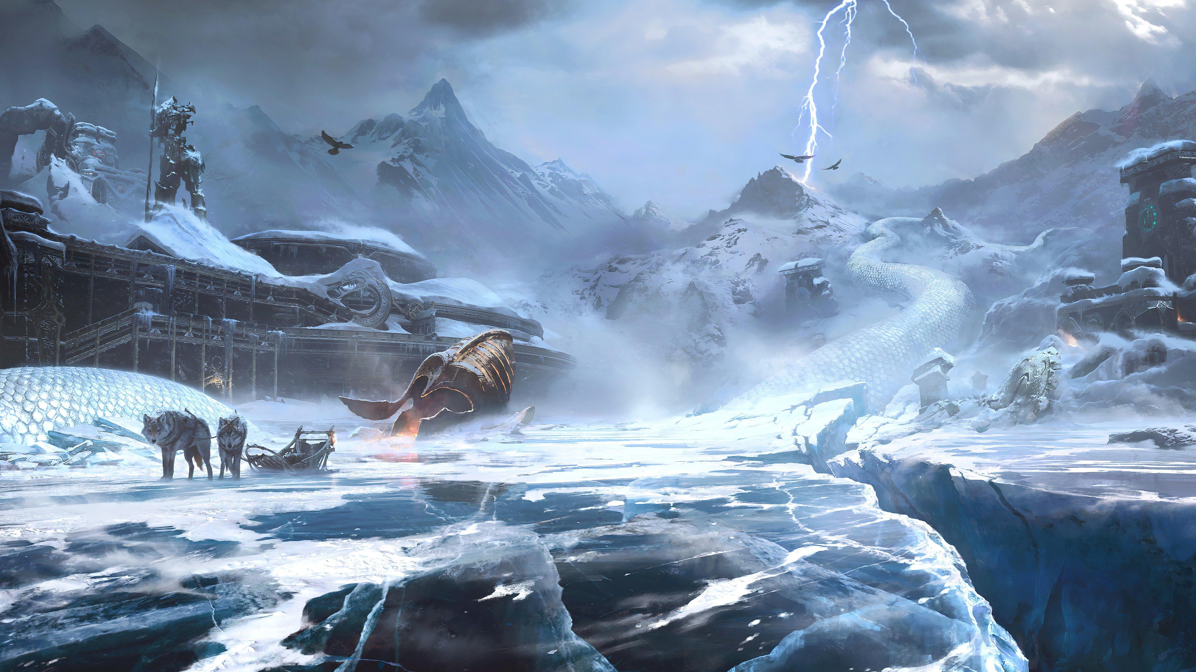 Fondos de pantalla Paisaje de God of War Ragnarok