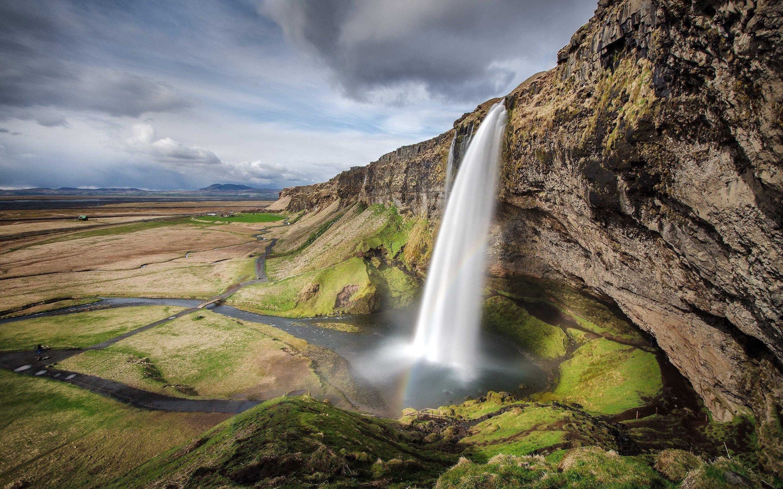 Wallpaper Landscape of Seljalandsfoss waterfall