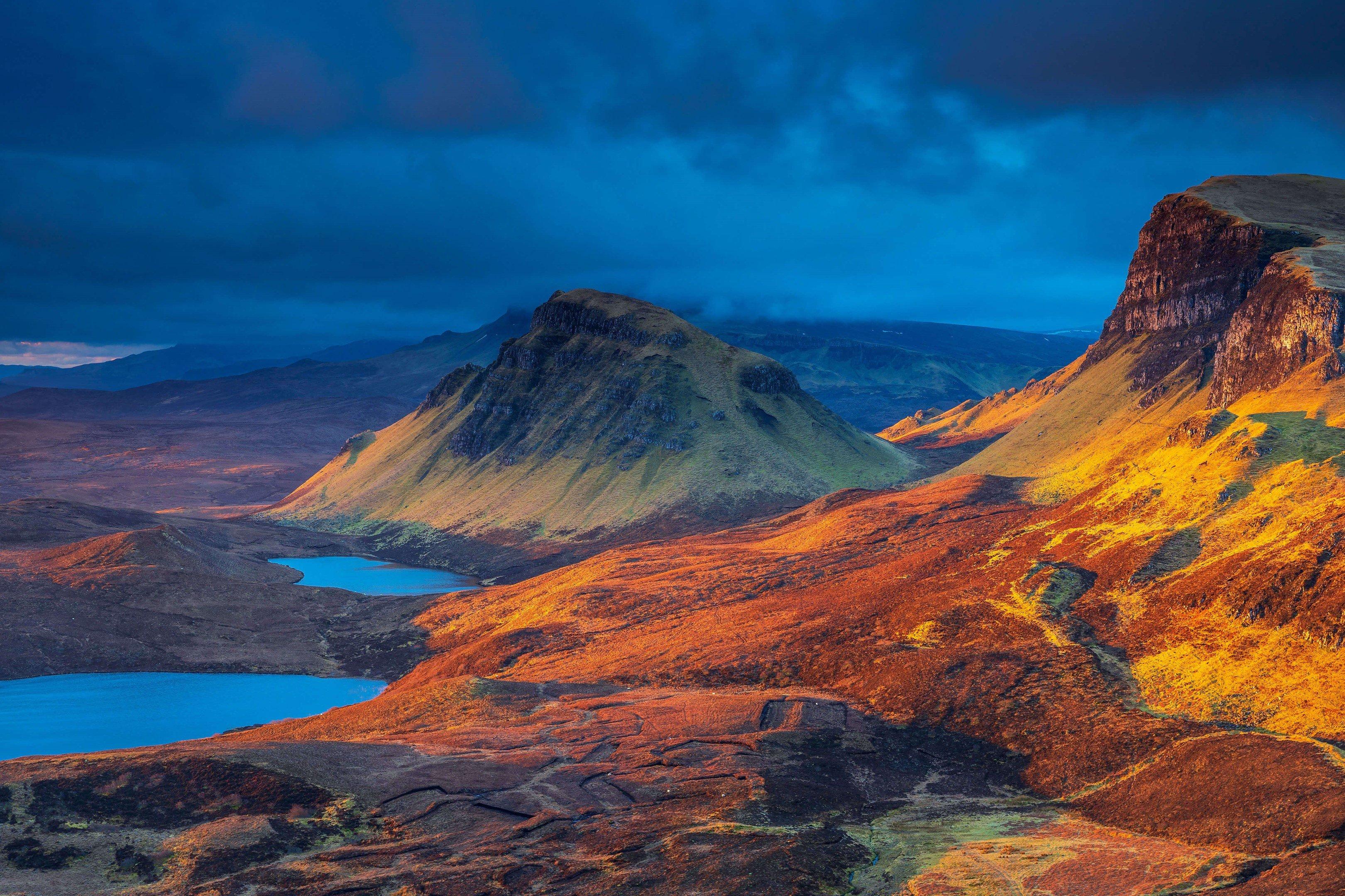Fondos de pantalla Paisaje de montañas en Escocia