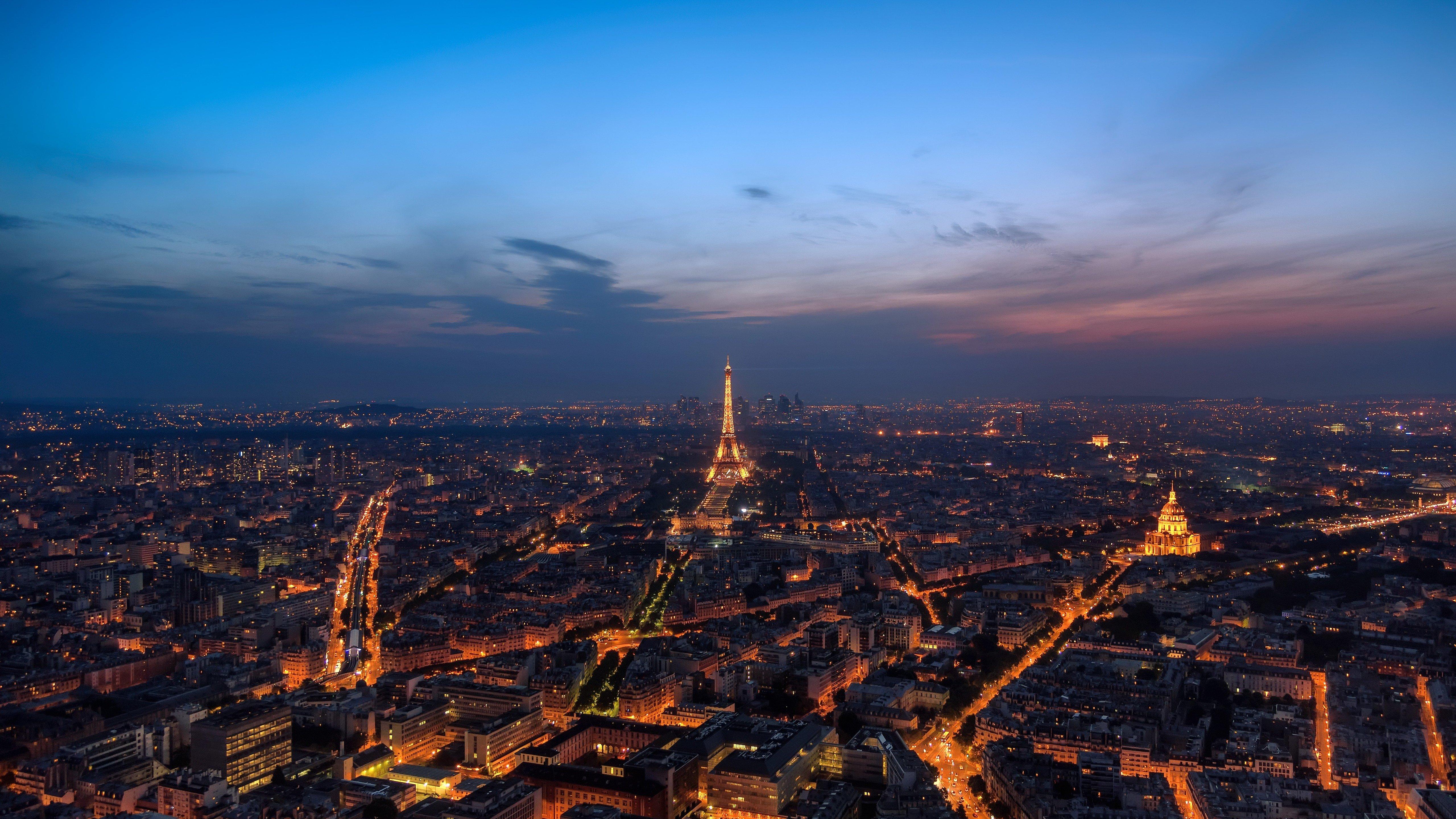 Fondos de pantalla Paisaje de Paris en la noche